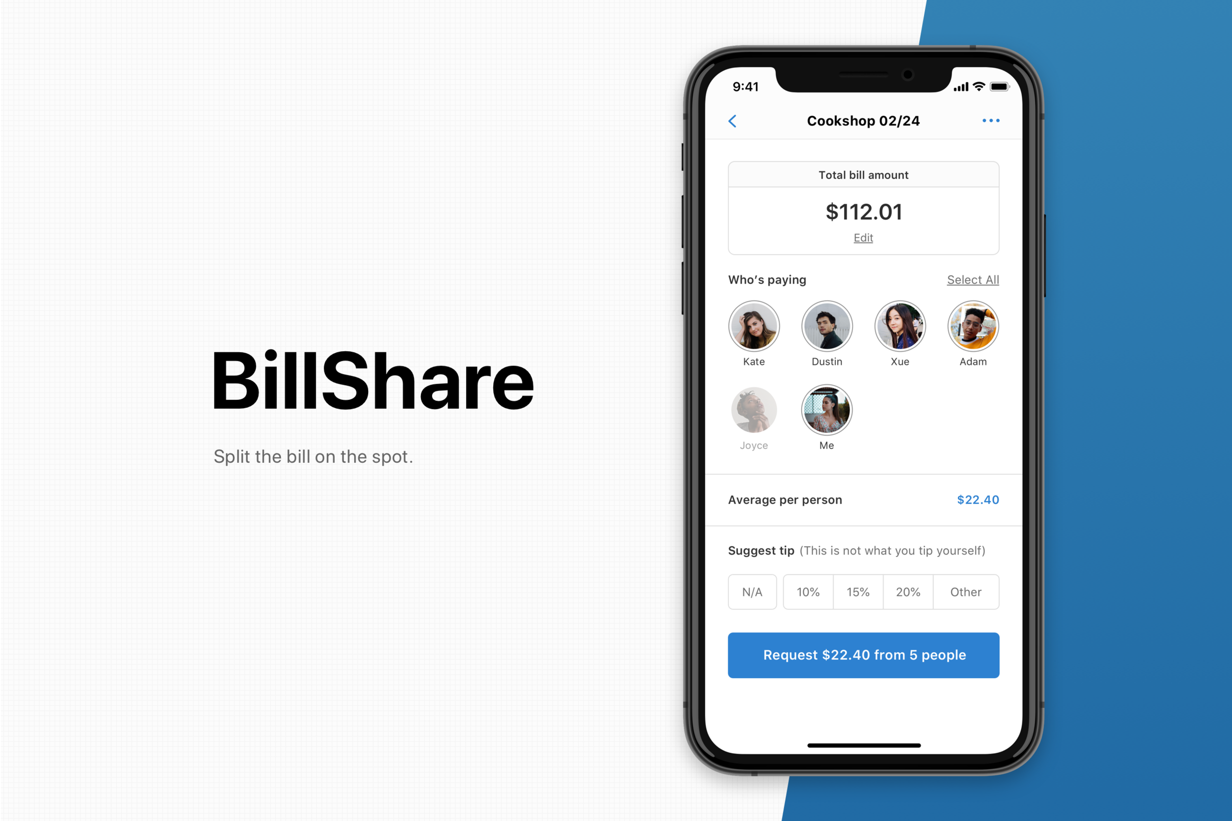 BillShare - A lightning fast bill splitting app. Settle your bills on the table.Case Study