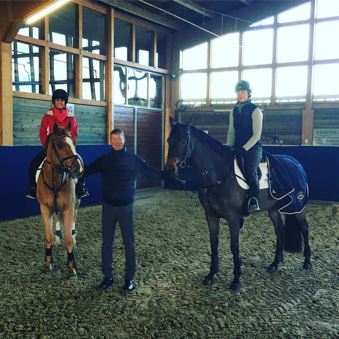 Kavita Sinha, Chris Kappler, and Priscilla trying horses at Holger Hetzel Stables in Goch, Germany 2016