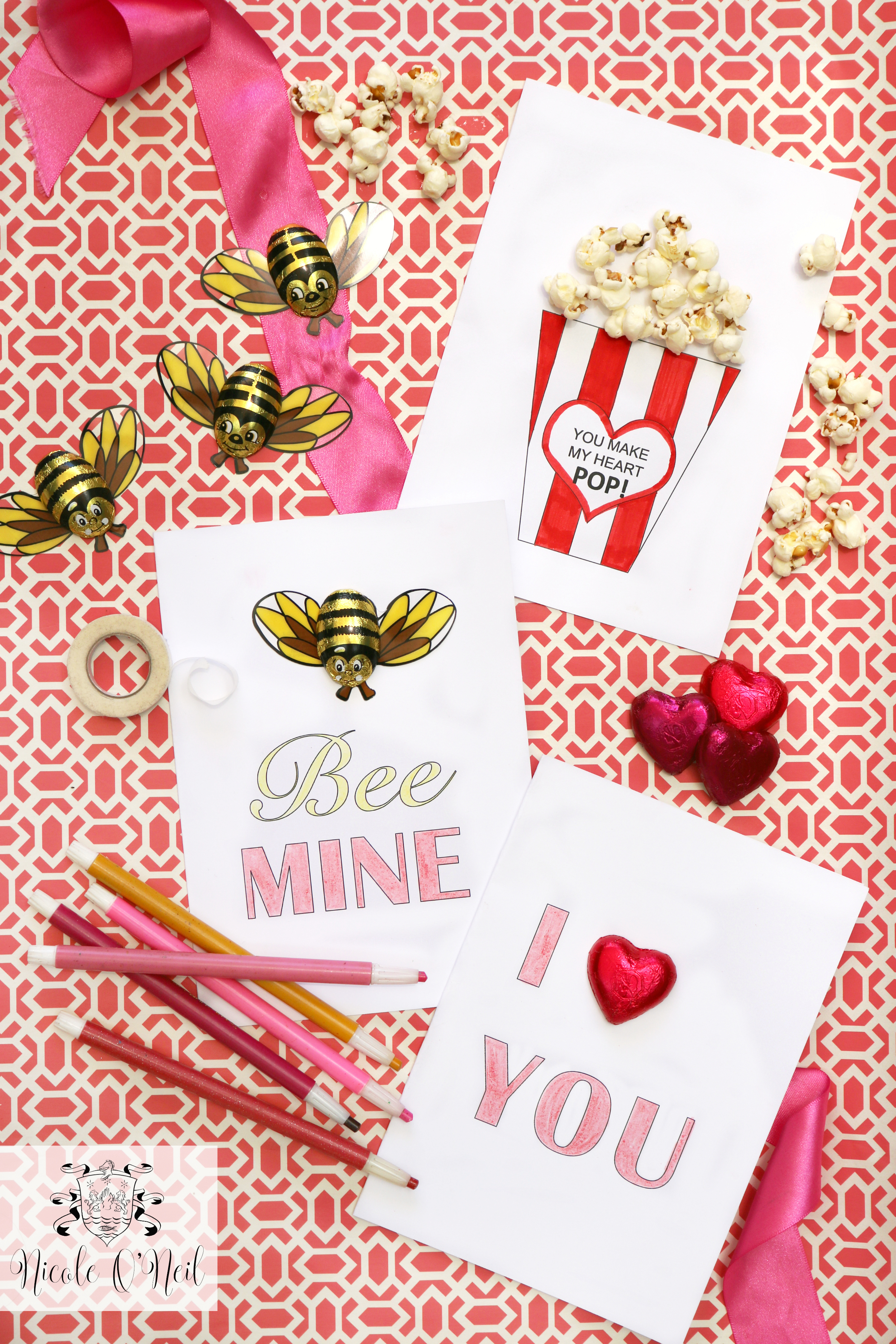 Free Printable Valentines Day Cards and Instructions - Cute Valentines Crafts for Kids
