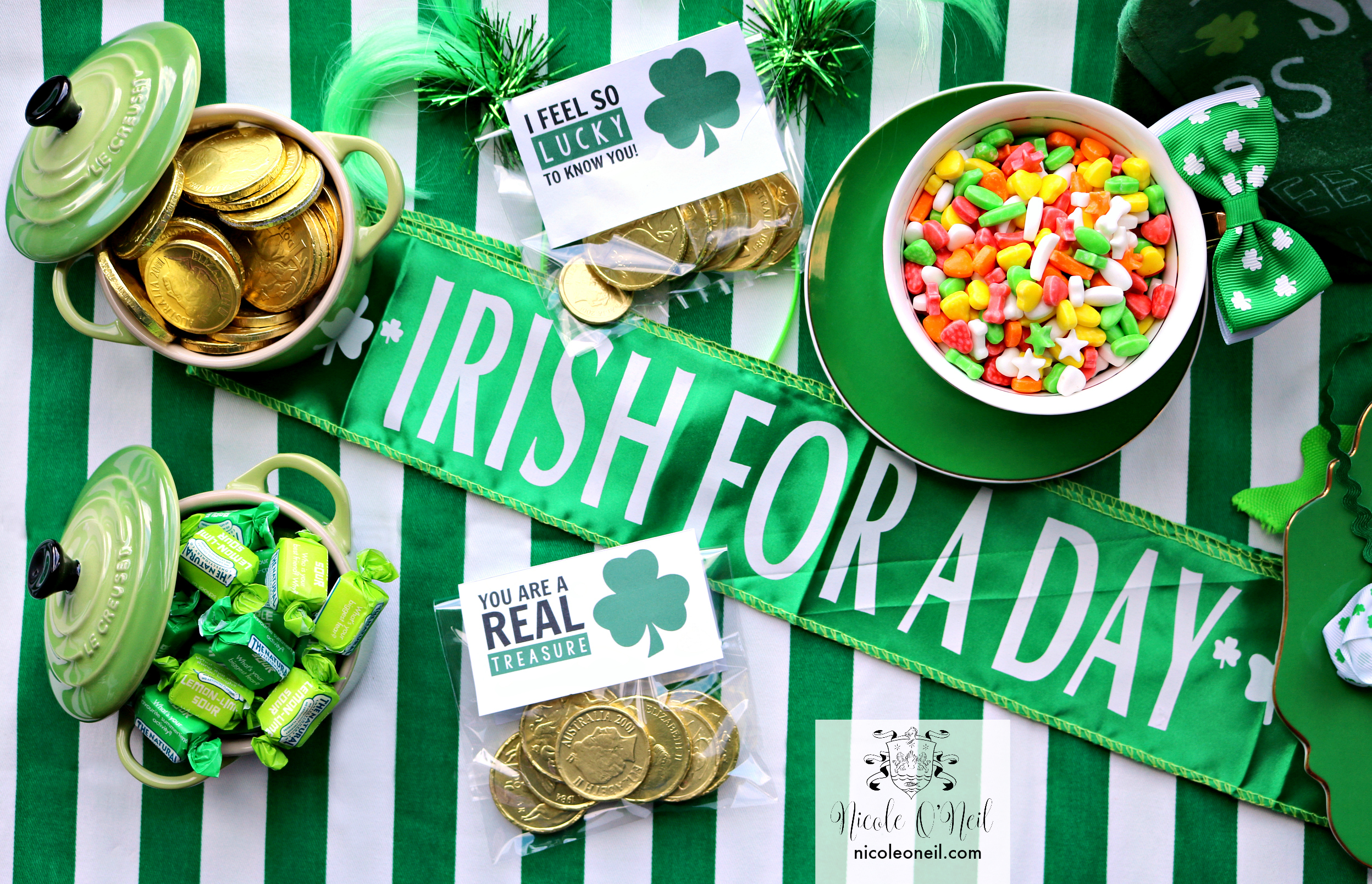 DIY Easy St Patrick's Day Table Setting Inspiration - St Patrick's Day Party