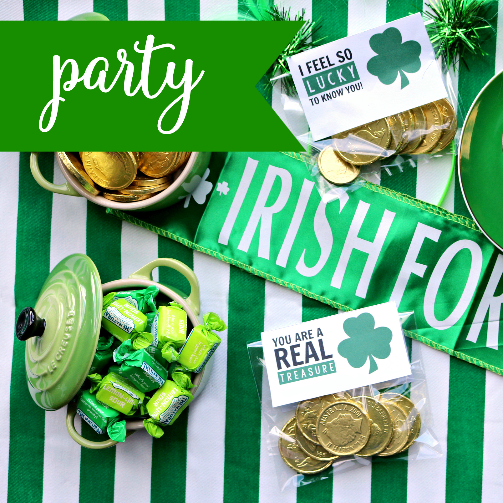 DIY Easy St Patrick's Day Table Setting Inspiration