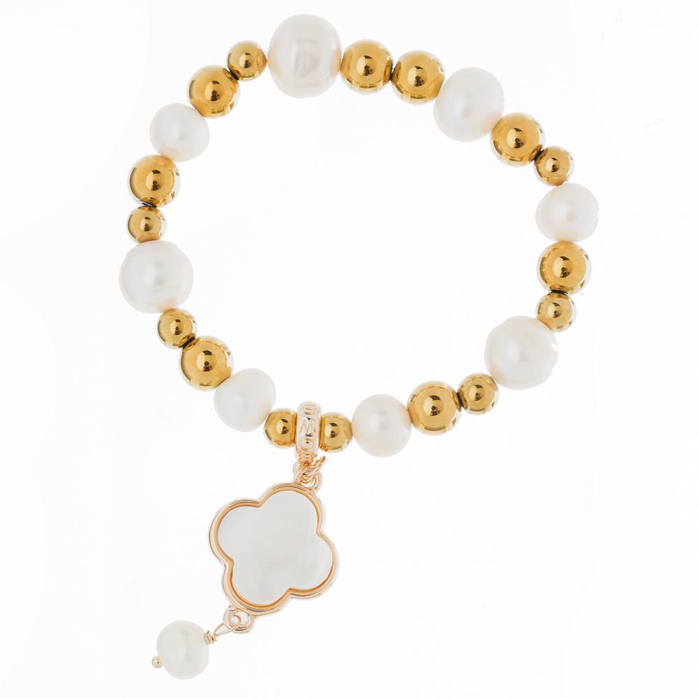 Bowerhaus Onassis Gold Clover Bracelet