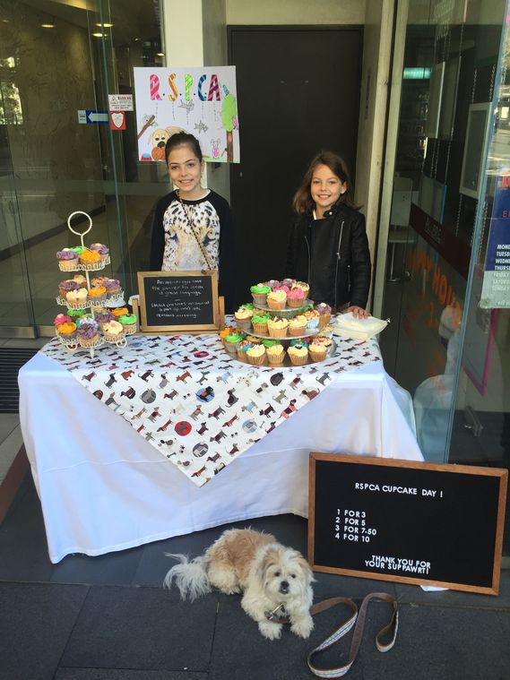 Nawal and Neve - The Pupcakes - RSPCA Cupcake Day