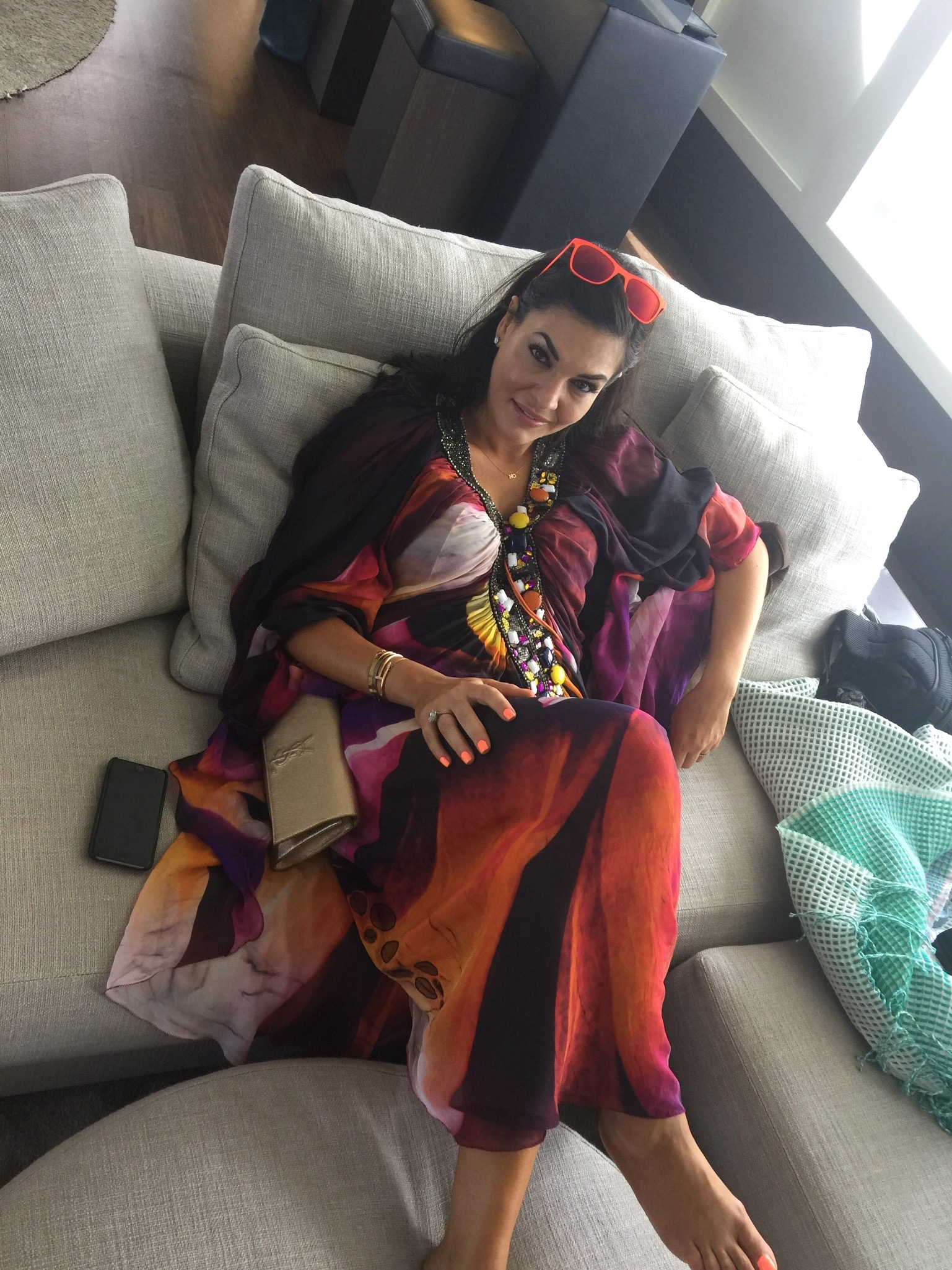 Behind the Scenes of The Real Housewives of Sydney Episode Four - Nicole Lounging Around.jpg