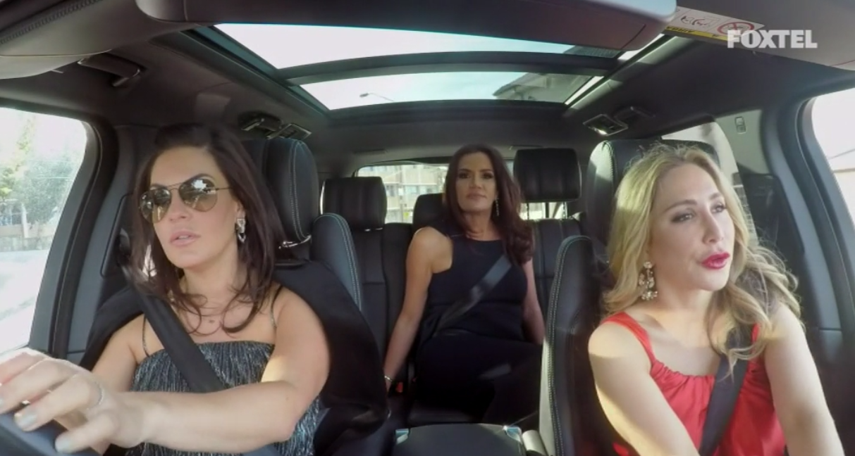 Nicole, Krissy and Matty drive to the gallery - The Real Housewives of Sydney Episode 5 Season 1 Recap S01E05