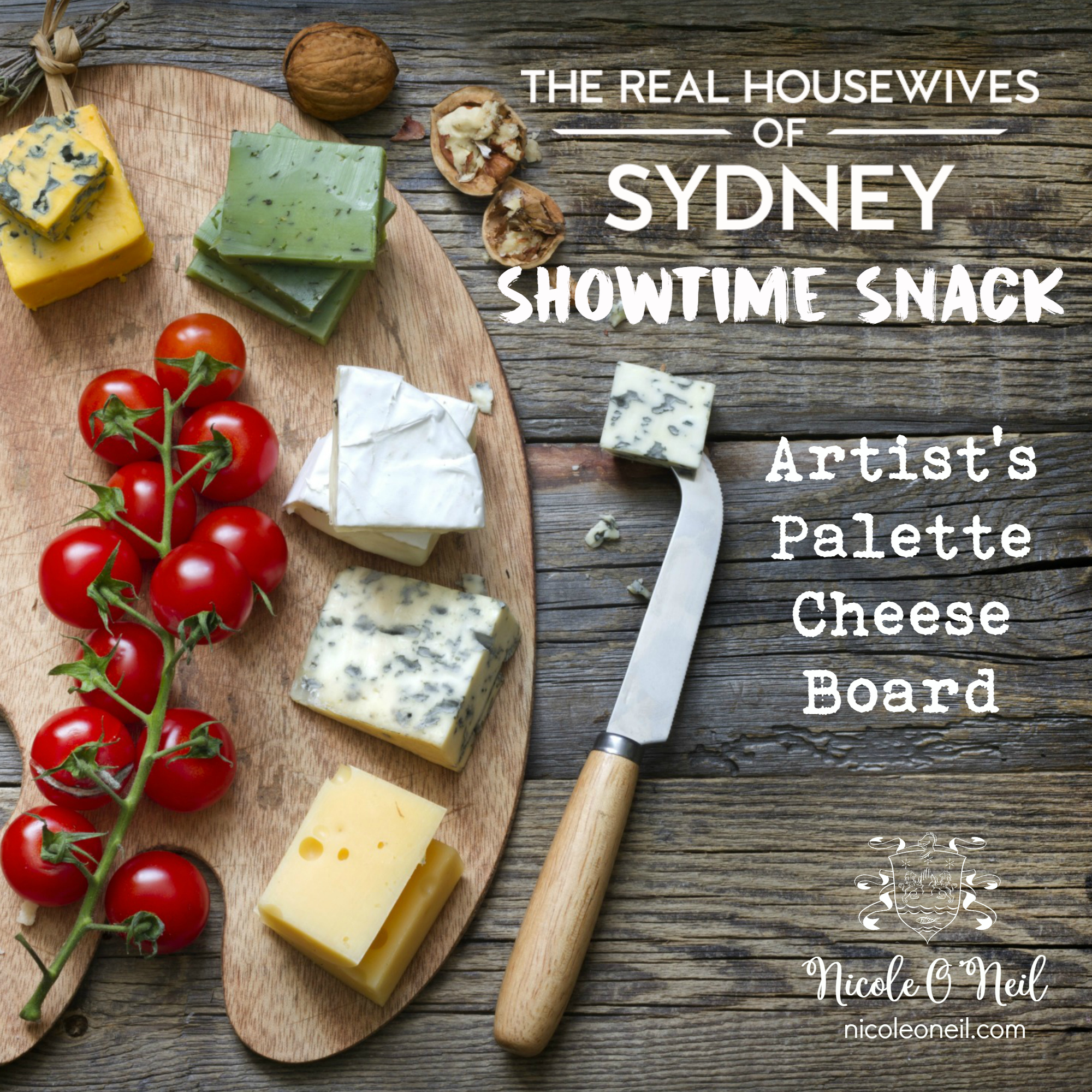 The Real Housewives of Sydney Showtime Snack - How to Make an Artist's Palette Cheese Plate Platter