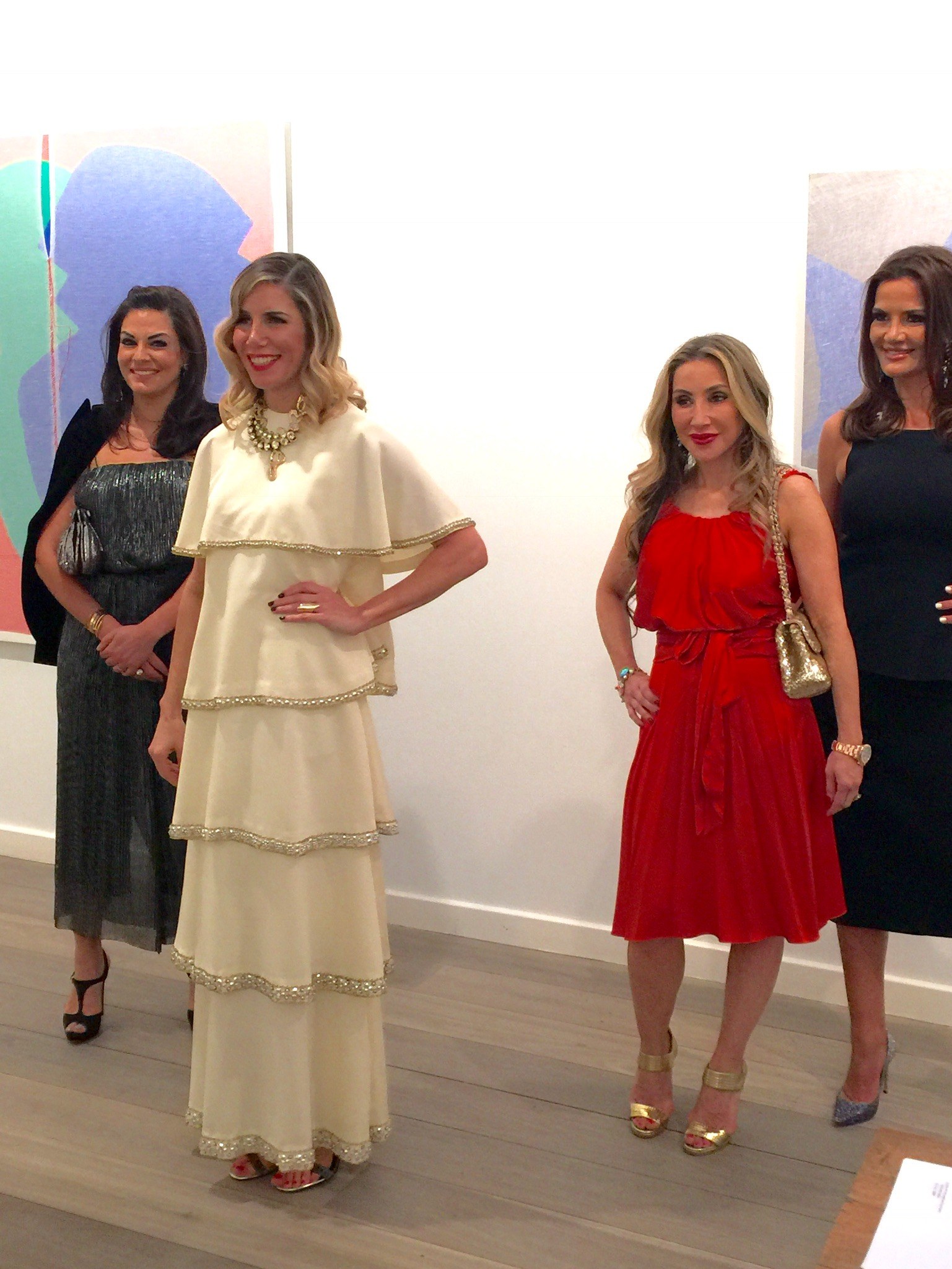 Nicole, AthenaX, Matty and Krissy and Athena Xenakis's Art Exhibition at the Olsen Gallery