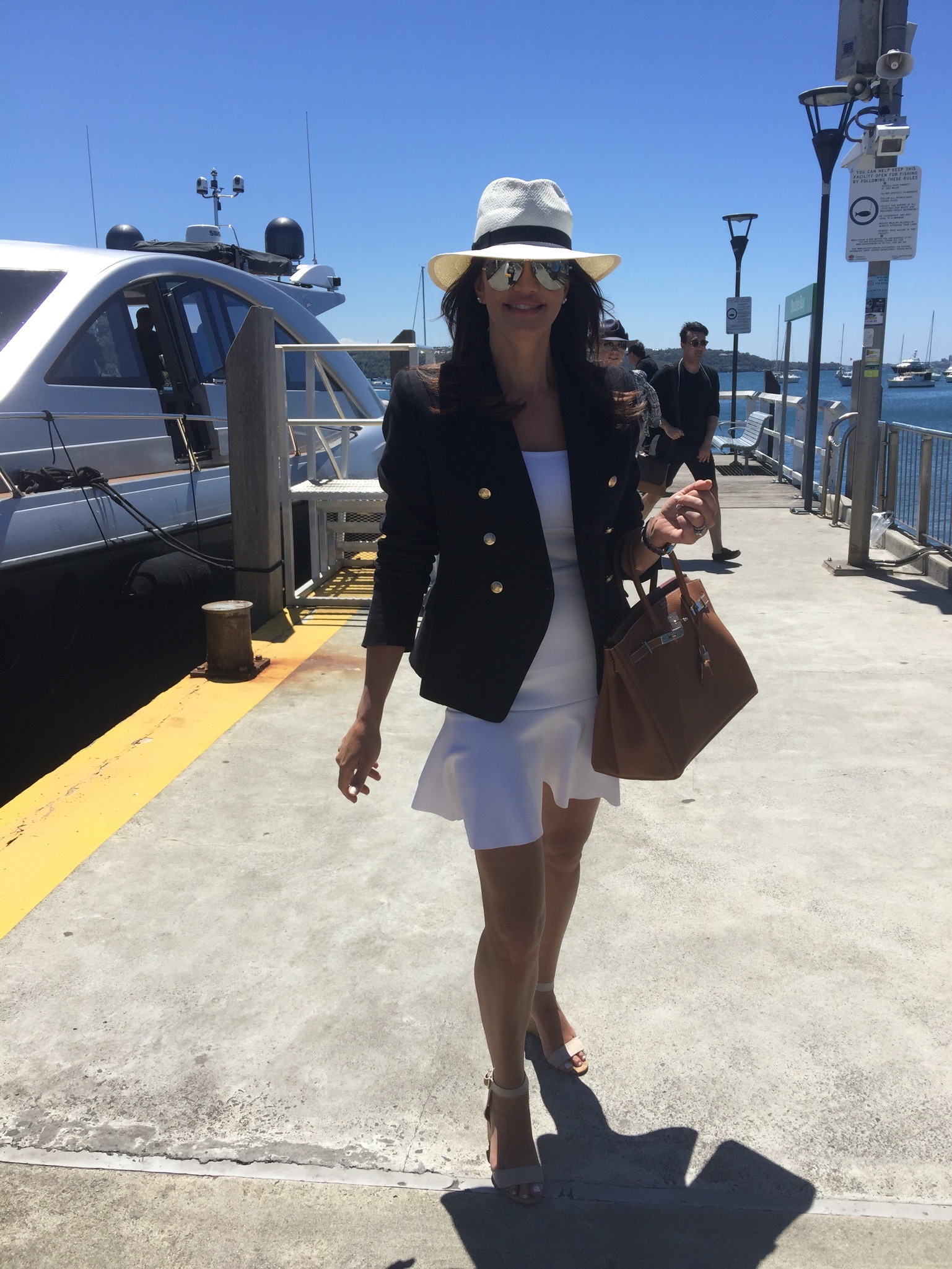Krissy ready to head out on the harbour - Behind the Scenes of The Real Housewives of Sydney Episode Seven