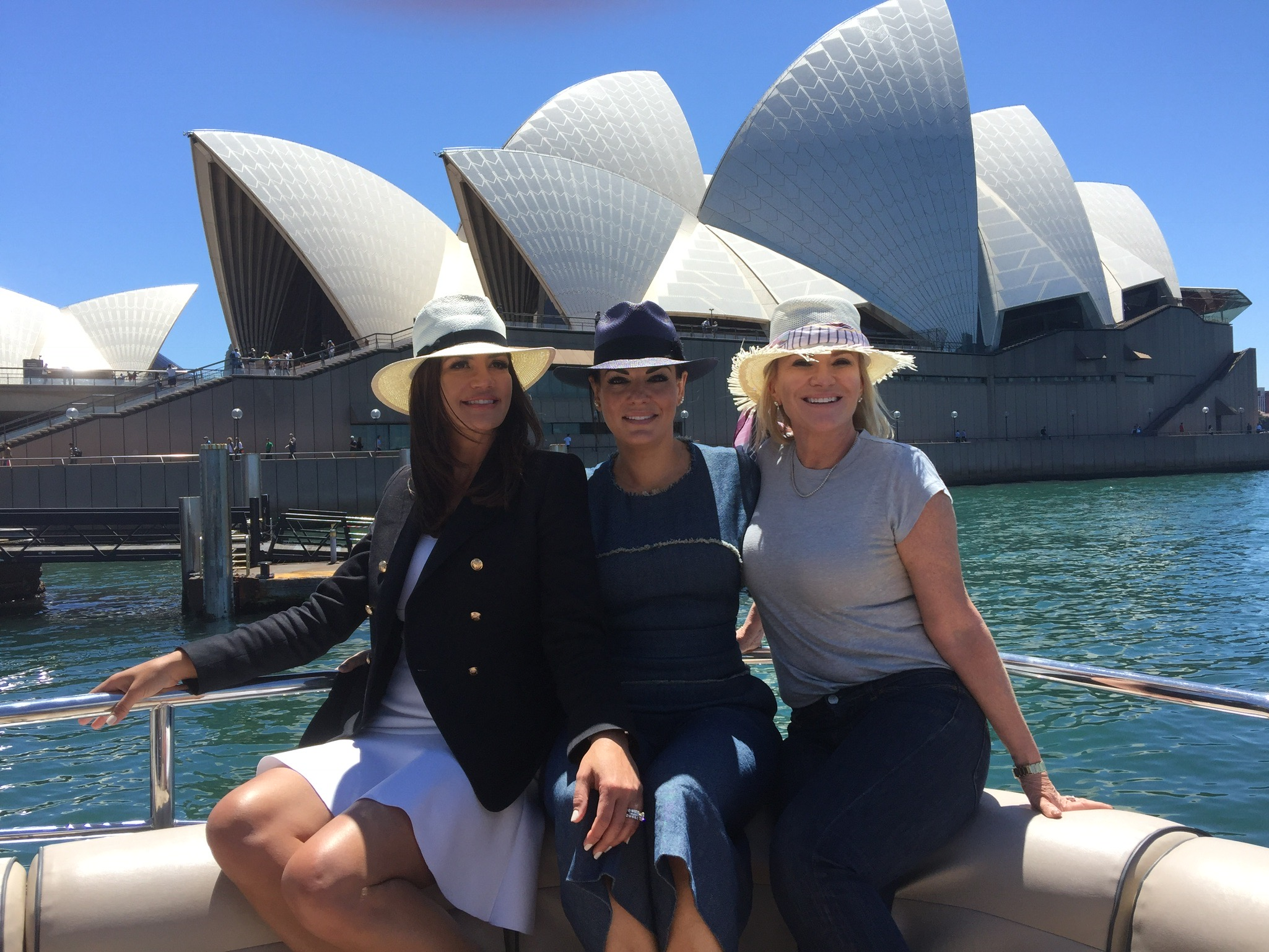 Krissy, Nicole and Victoria cruising Sydney Harbour - Behind the Scenes of The Real Housewives of Sydney Episode Seven