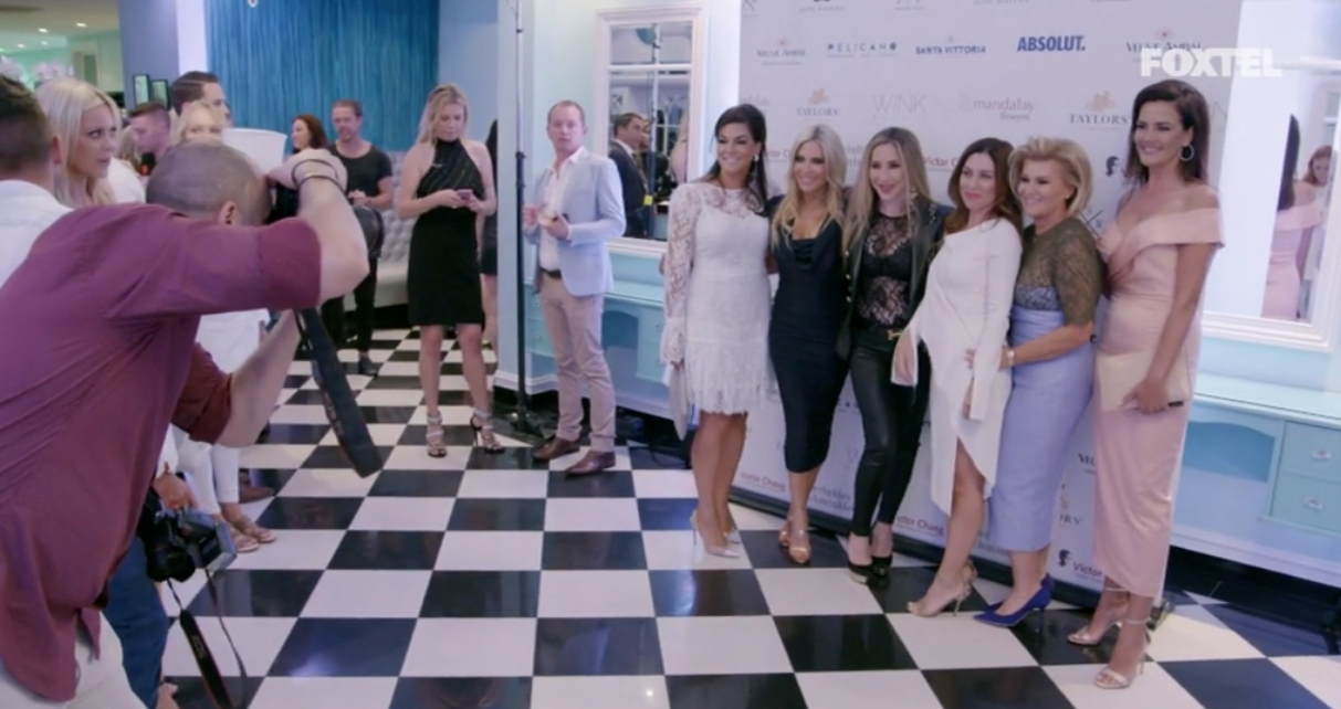 The girls at Victoria's event - The Real Housewives of Sydney Episode 7 Recap Series 1 RHOS S01E07