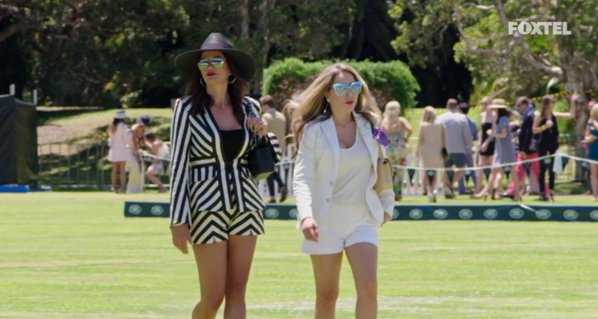 Matty and Krissy arrive at the polo - The Real Housewives of Sydney Episode 8 Recap Series 1 RHOS S01E08
