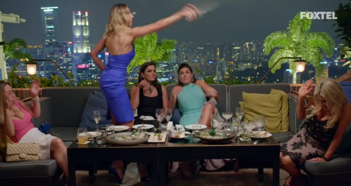 AthenaX throws a drink - The Real Housewives of Sydney Episode 8 Recap Series 1 RHOS S01E08