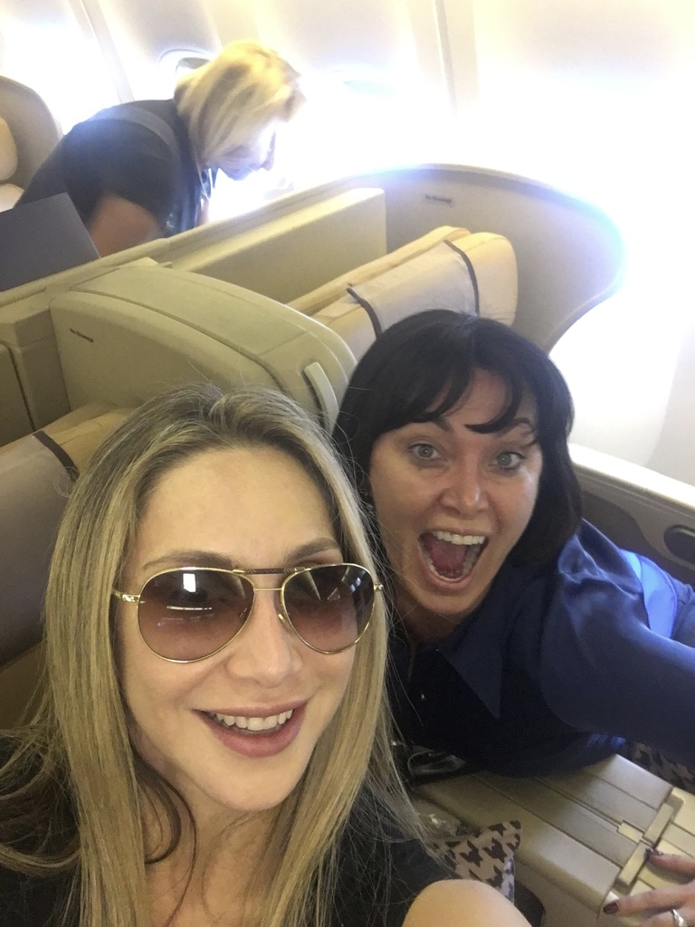 Behind the Scenes of The Real Housewives of Sydney Episode 8 - Lisa and Matty on the flight.jpg