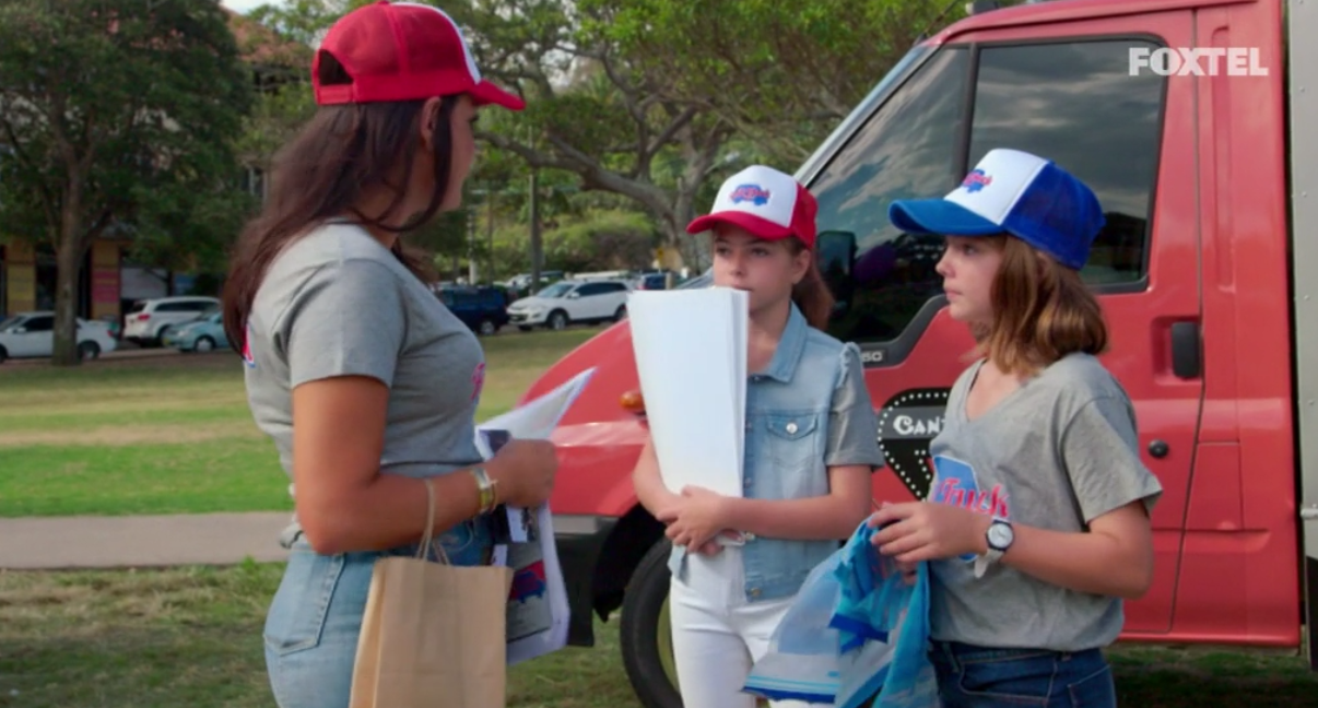 Nicole and the girls at The Food Truck Fund Event - The Real Housewives of Sydney Episode 10 Recap Season 1
