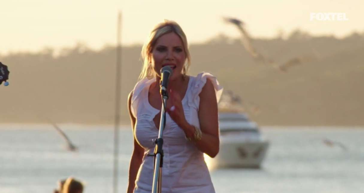 Melissa sings at The Food Truck Fund Event - The Real Housewives of Sydney Episode 10 Recap Season 1