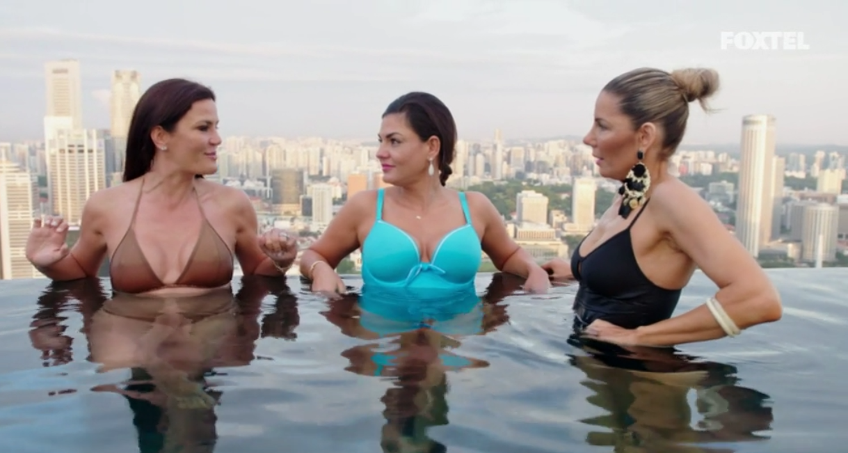 Krissy Nicole and AthenaX go for a morning swim - The Real Housewives of Sydney Episode 10 Recap Season 1
