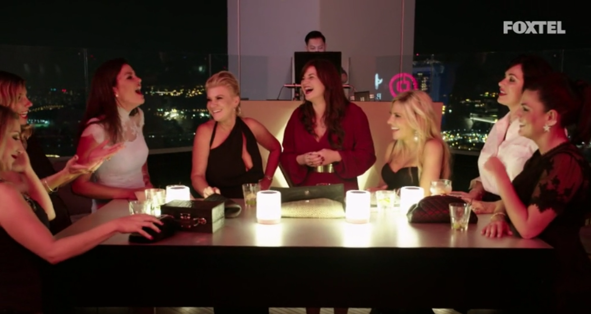 Girls chatting at the Empire Lounge - The Real Housewives of Sydney Episode 10 Recap Season 1