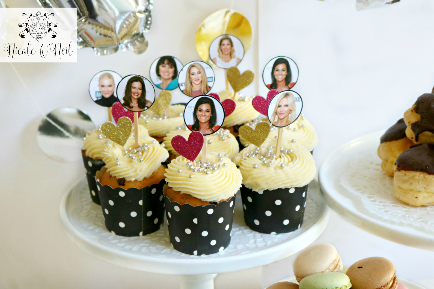 Real Housewives of Sydney Cupcakes - Choose Your Favourite Housewife - DIY Real Housewives of Sydney Reunion Party