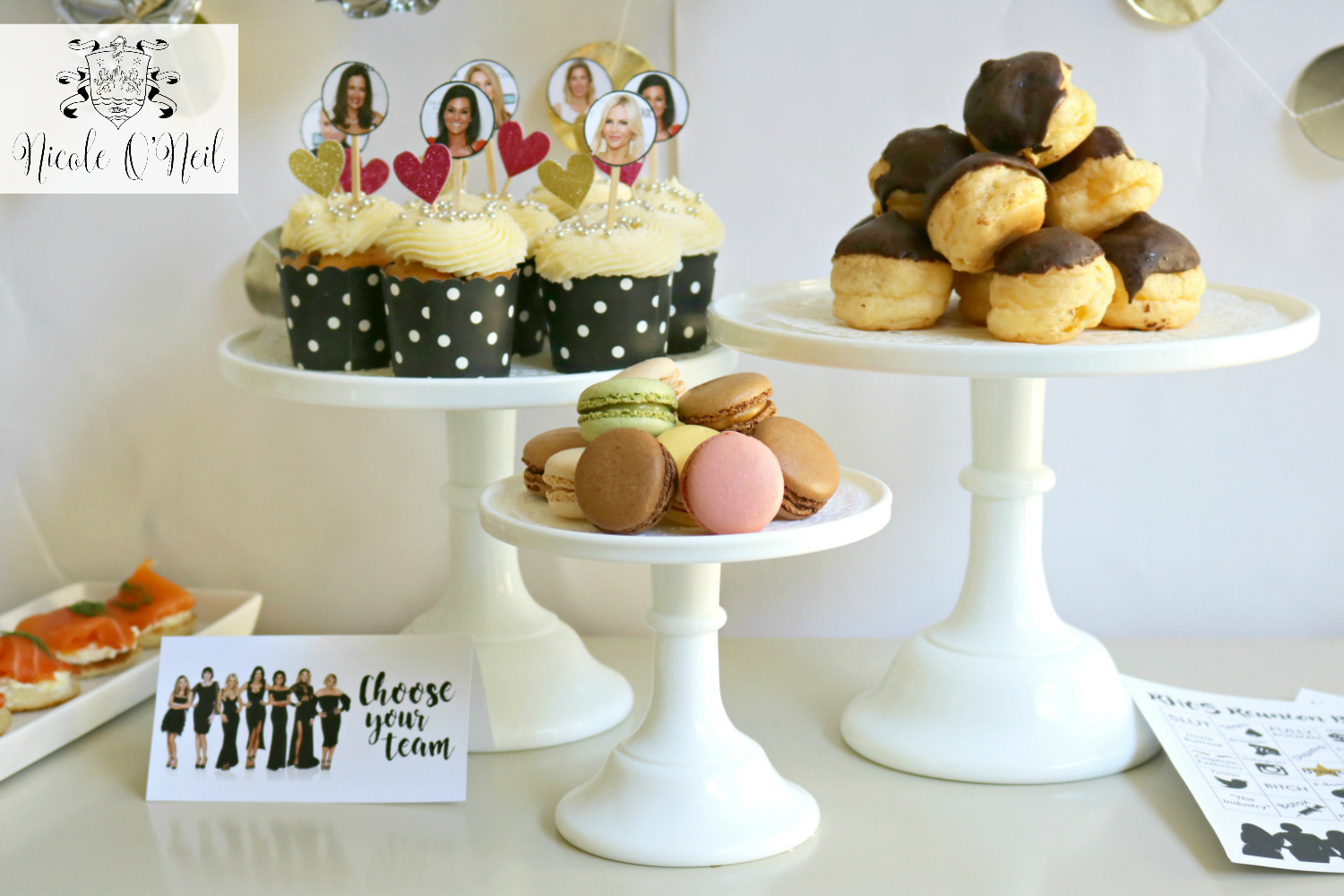 Real Housewives of Sydney Cupcakes - Choose Your Favourite Housewives - DIY Real Housewives of Sydney Reunion Party