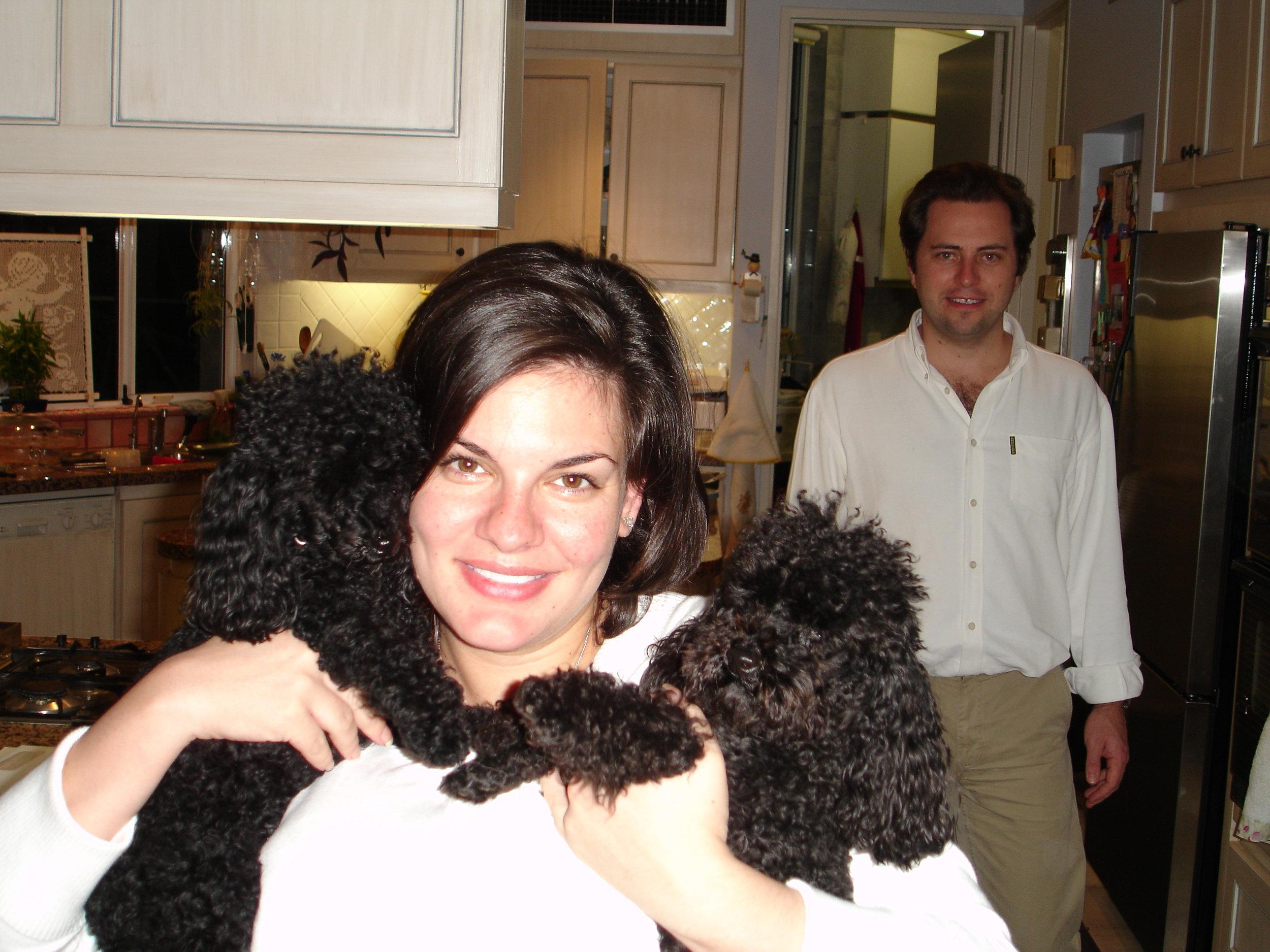 Nicole and Adam with Bella and Baci
