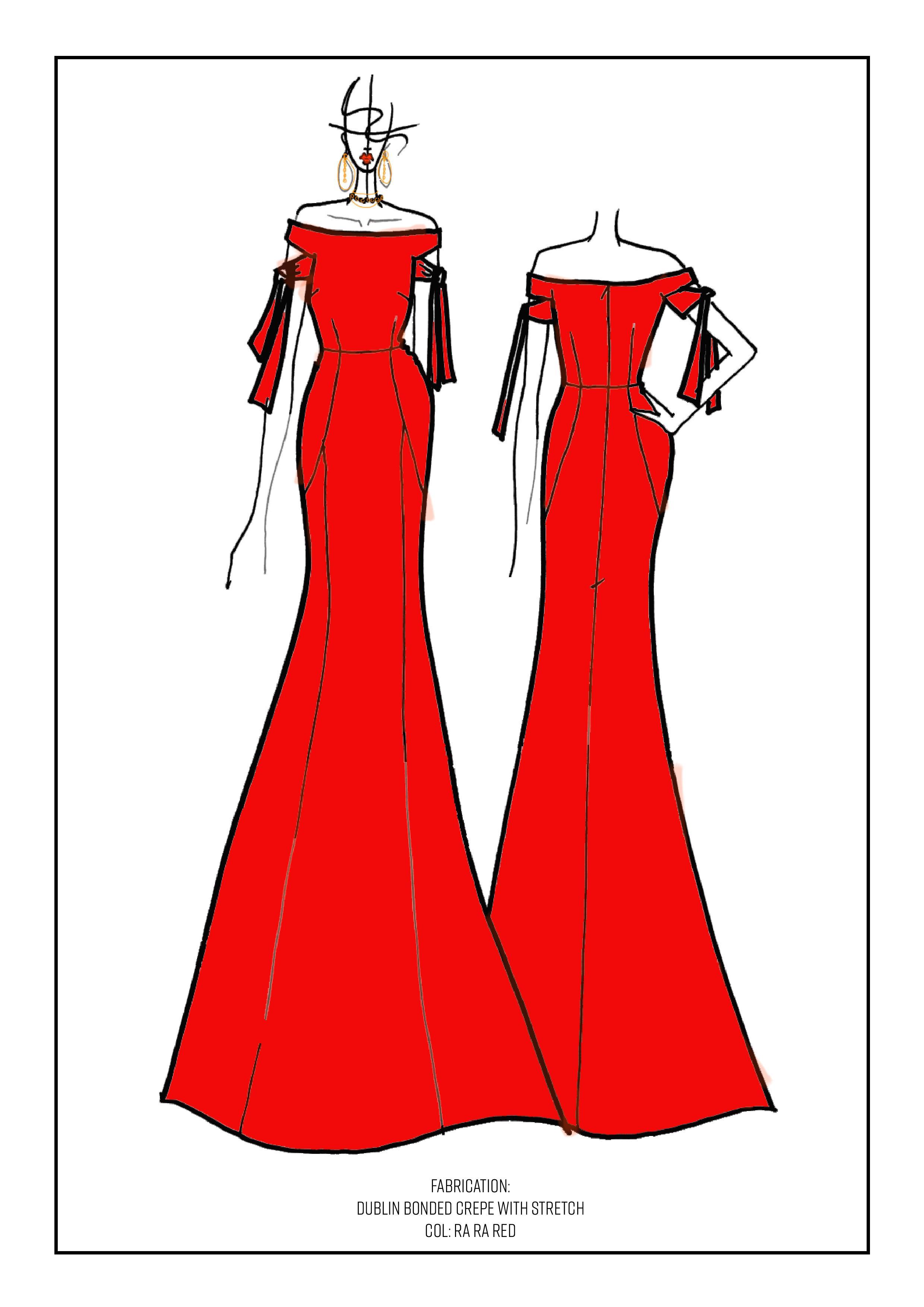 Rebecca Vallance Bespoke Gown for Nicole O'Neil