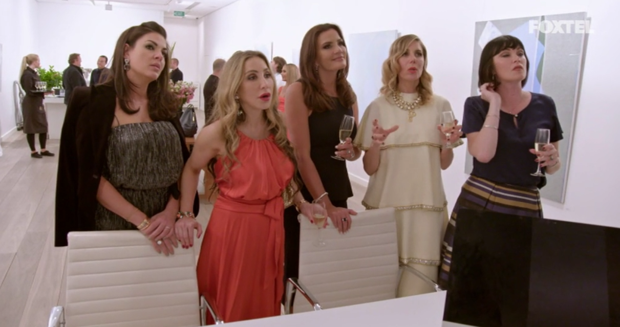 Looking at Athena's art - The Real Housewives of Sydney Episode 5 Season 1 Recap S01E05.png