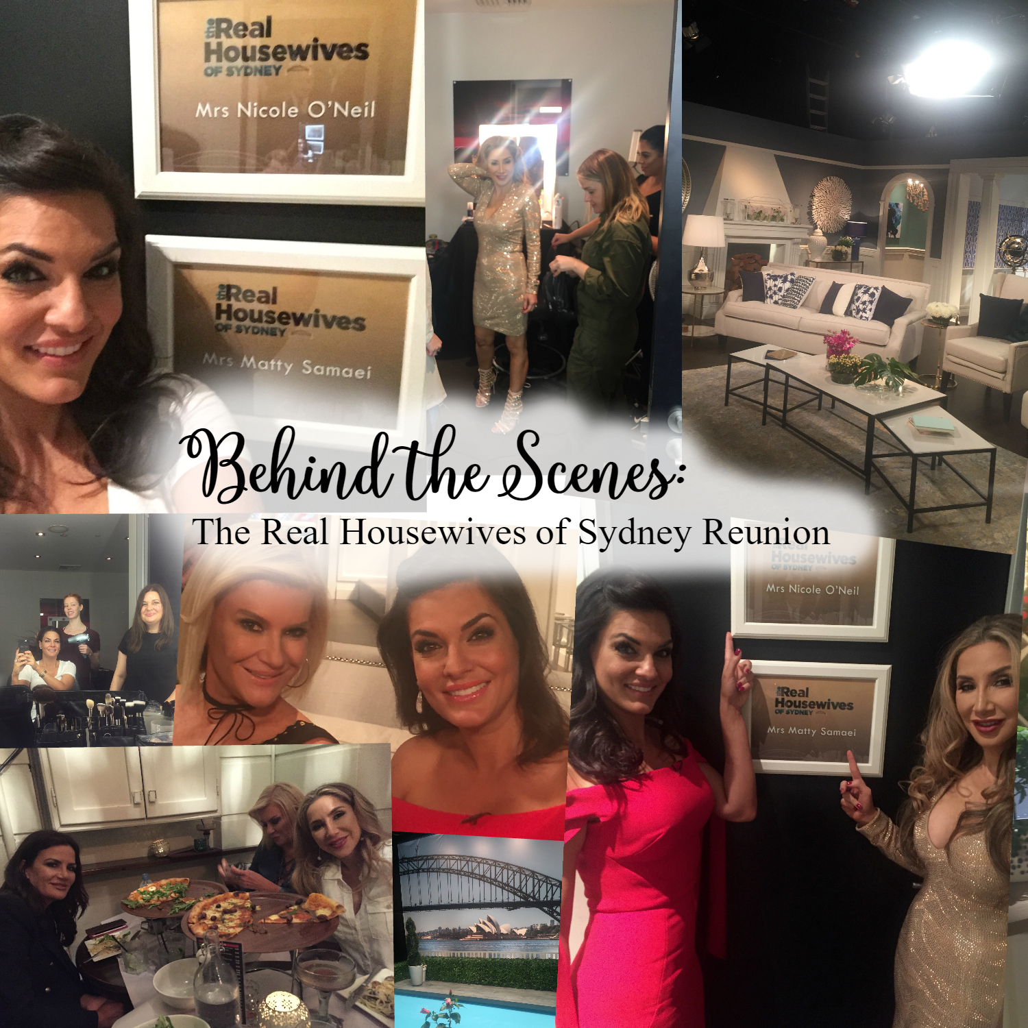 Find out what goes on behind the scenes of The Real Housewives of Sydney and get cast member, Nicole O'Neil's, exclusive behind the scenes photos from the RHOS Reunion Special.