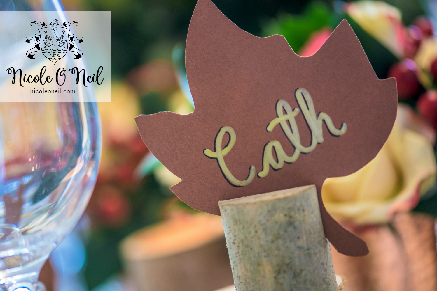Simple Rustic Autumn Table Setting Ideas for Dinner Parties and Wedding Reception Inspiration – Placecards