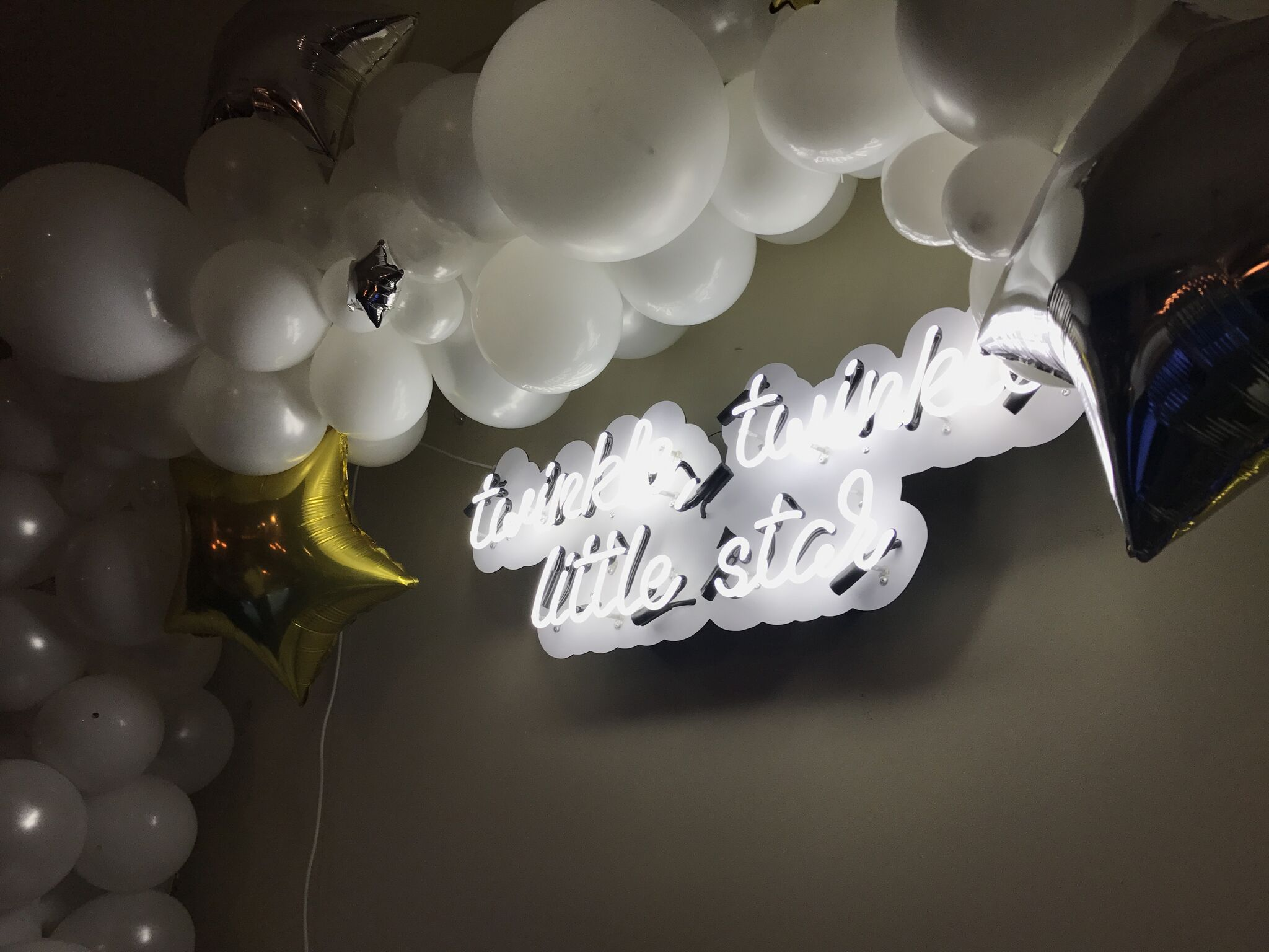 Twinkle Twinkle Little Star Themed Baby Shower - Custom Neon Sign for Nursery