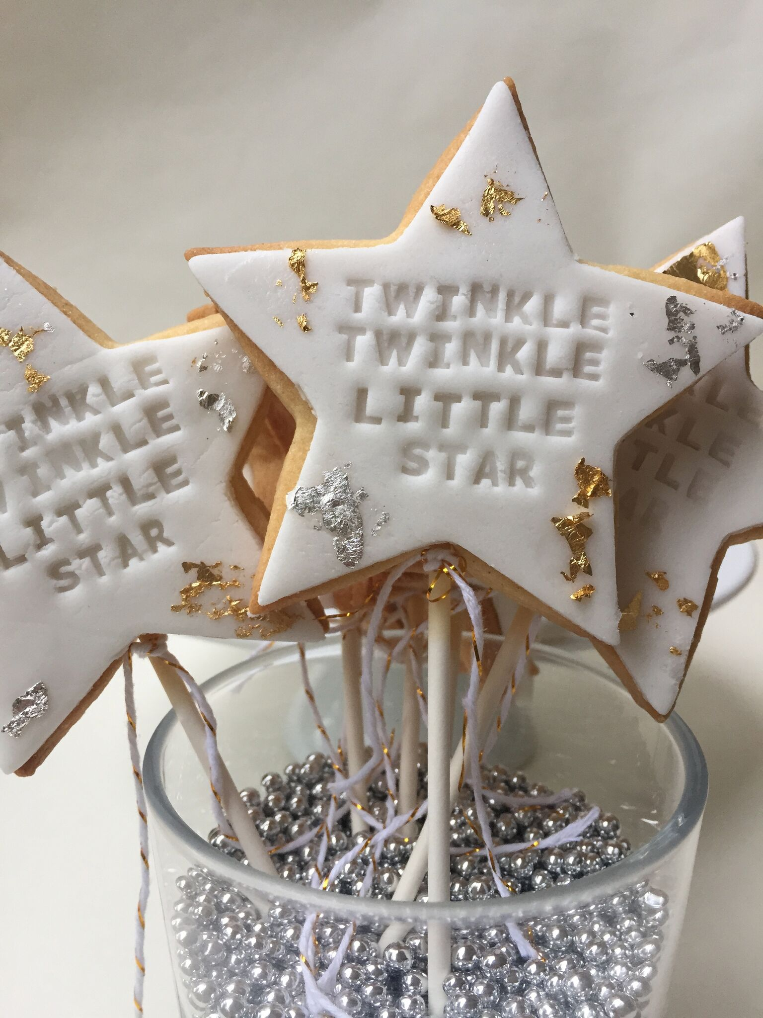 Twinkle Twinkle Little Star Themed Baby Shower - Star Themed Cookie Pops.jpg