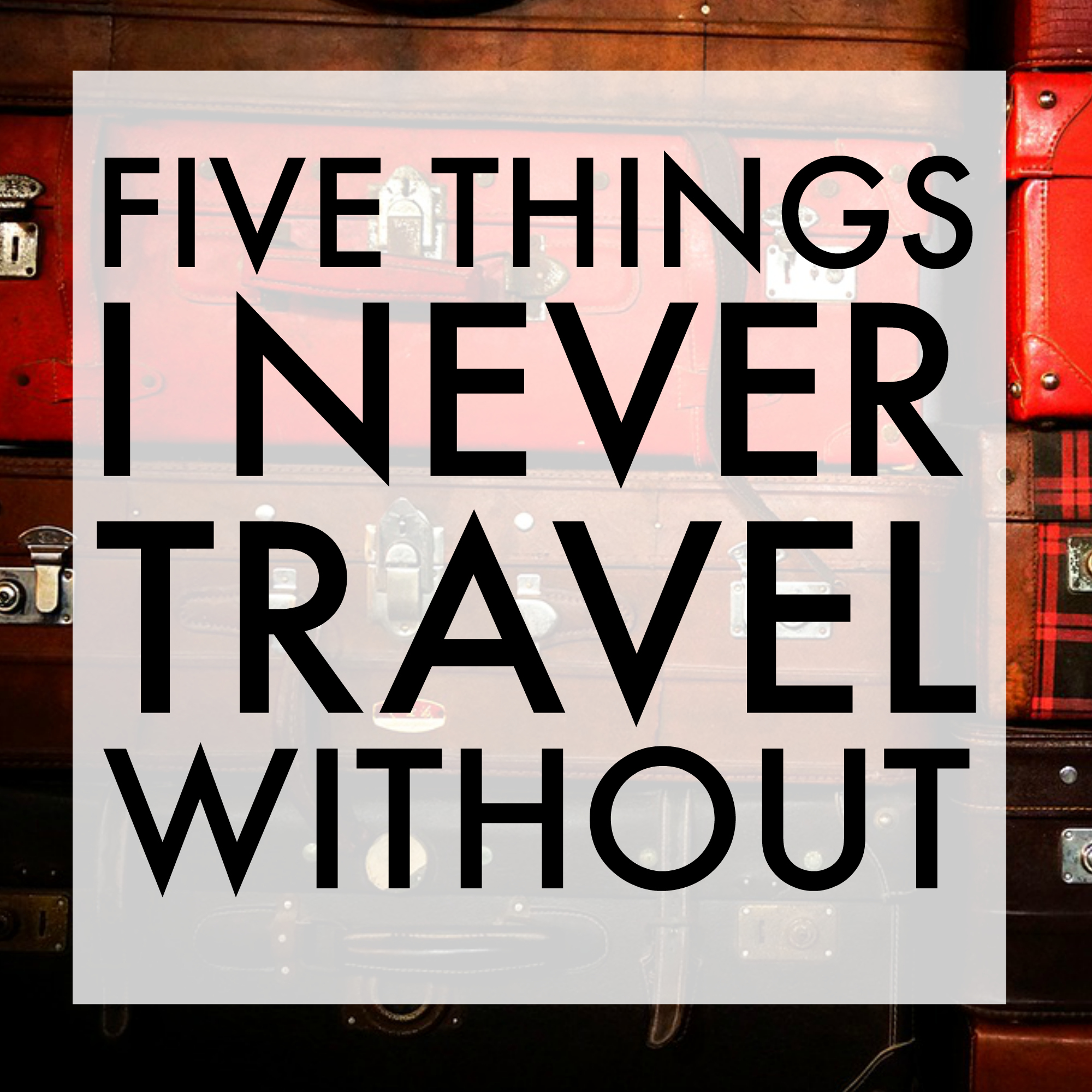 Nicole O'Neil from The Real Housewives of Sydney shares her travel essentials - the top five things she can't travel without!