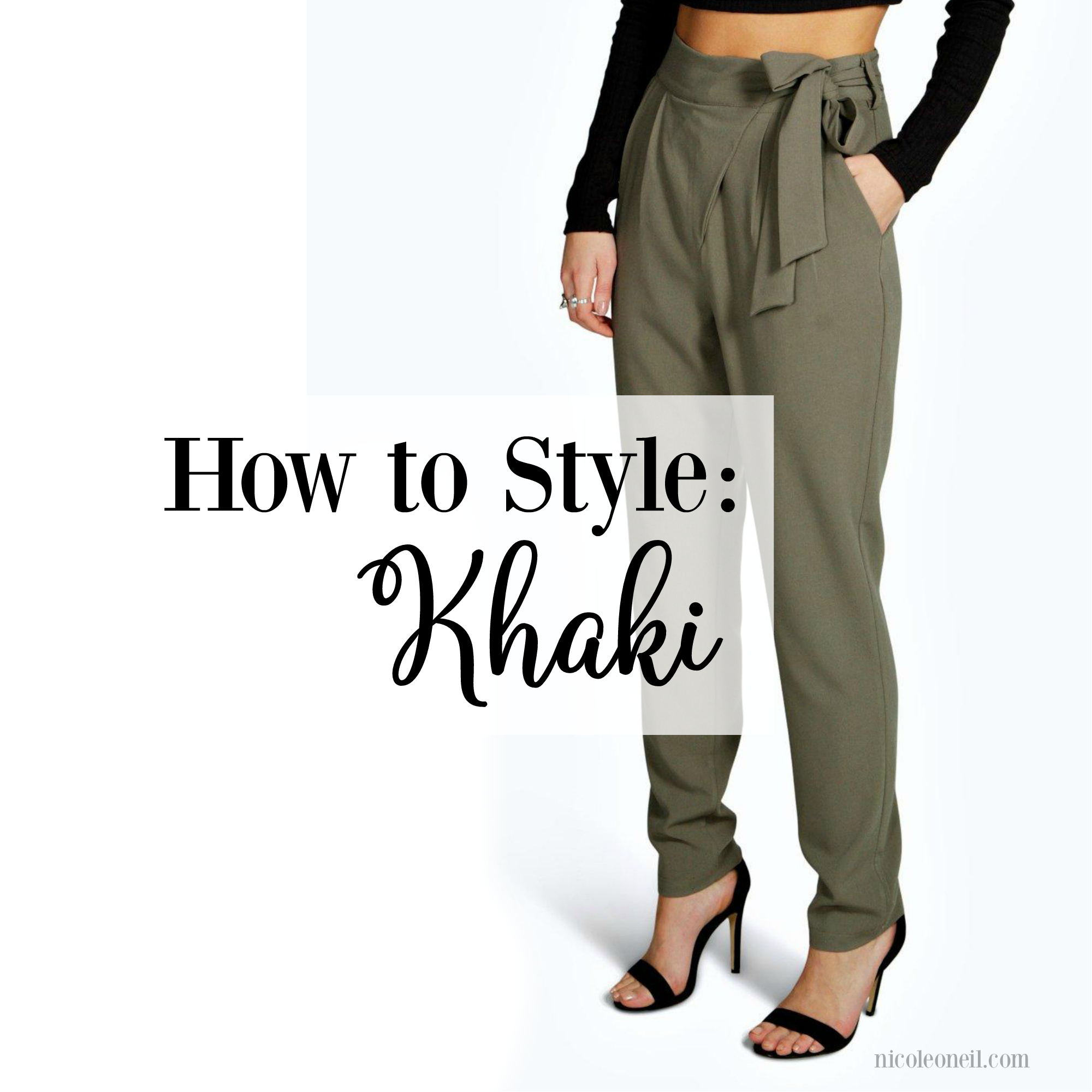 How to Style Khaki | Get Khaki Outfit Ideas for every season with casual, corporate and dressed up options for Spring, Summer, Autumn (Fall) and Winter 2017.