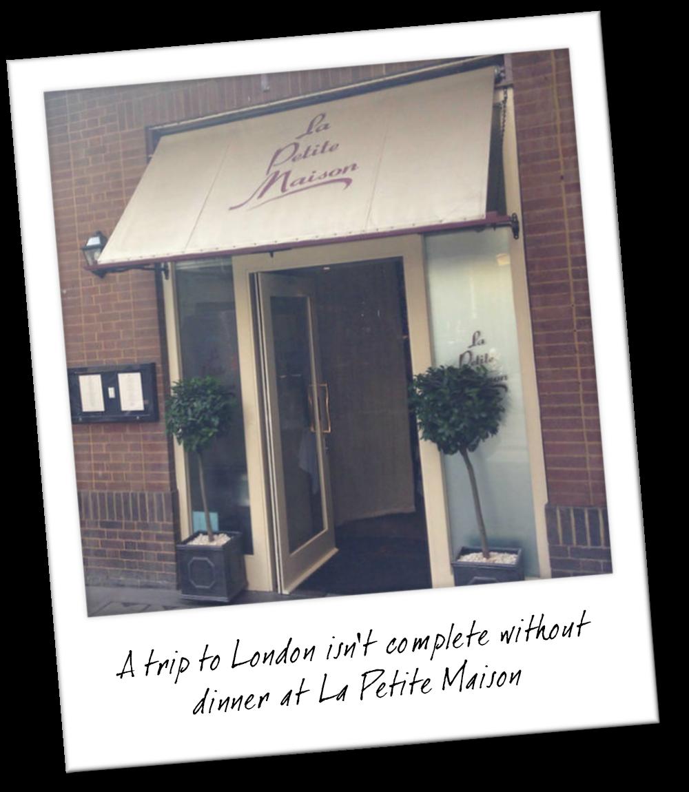 The Best Restaurants in London - La Petite Maison