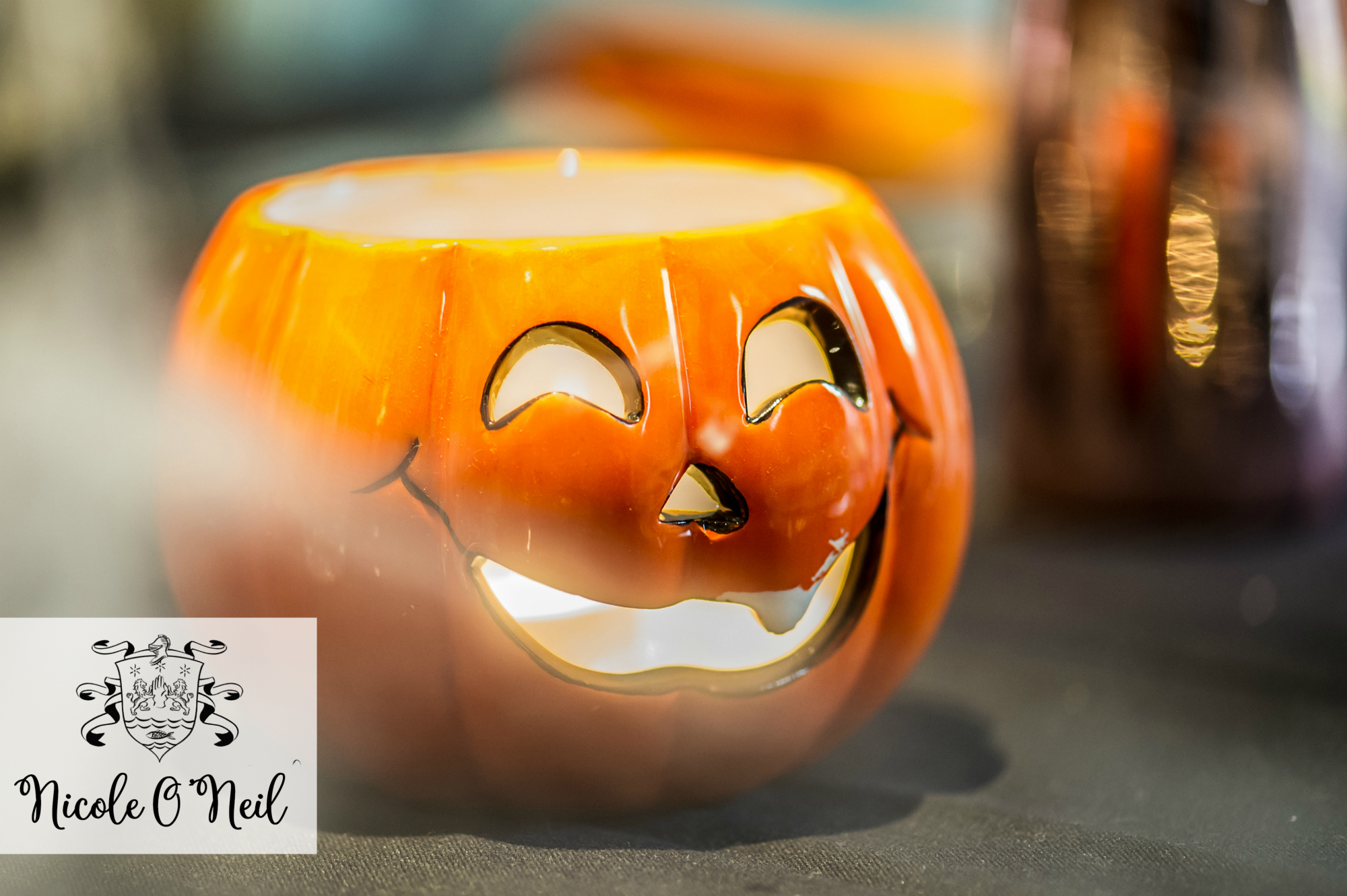 Halloween Party Decoration Ideas and Halloween Table Setting Inspiration - Jack O Lantern Candles .jpg