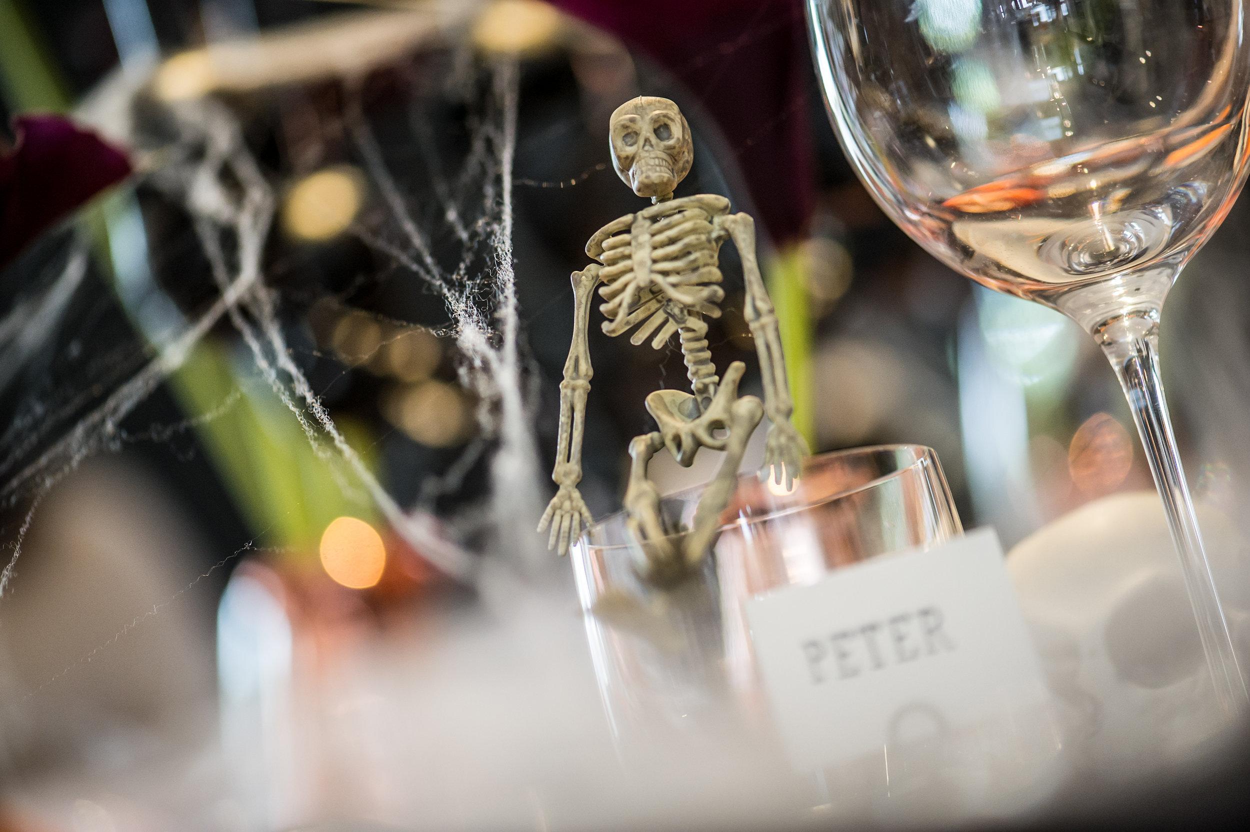 Halloween Party Decoration Ideas and Halloween Table Setting Inspiration - Mini Skeleton Decorations.jpg