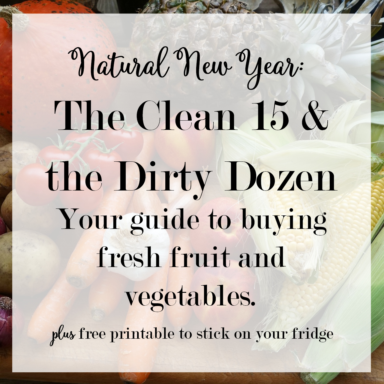 Clean 15 and Dirty Dozen - What Fruit and Vegetables Should You Buy Organic - Fresh Produce Buying Guide