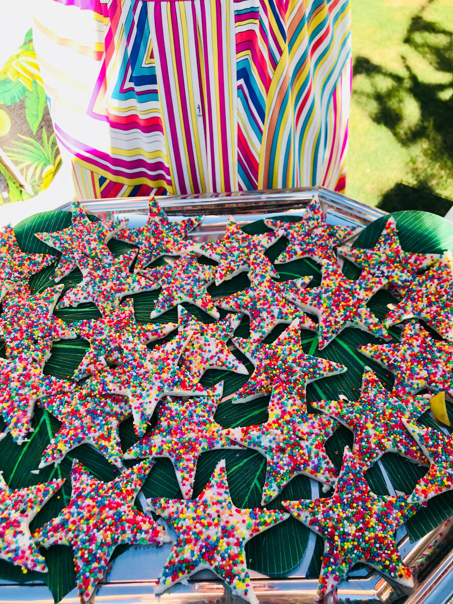 Fairy Bread Stars for Neve's Hawaiian Luau Pool Party