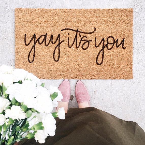 Yay It's You Cute Doormat.jpg