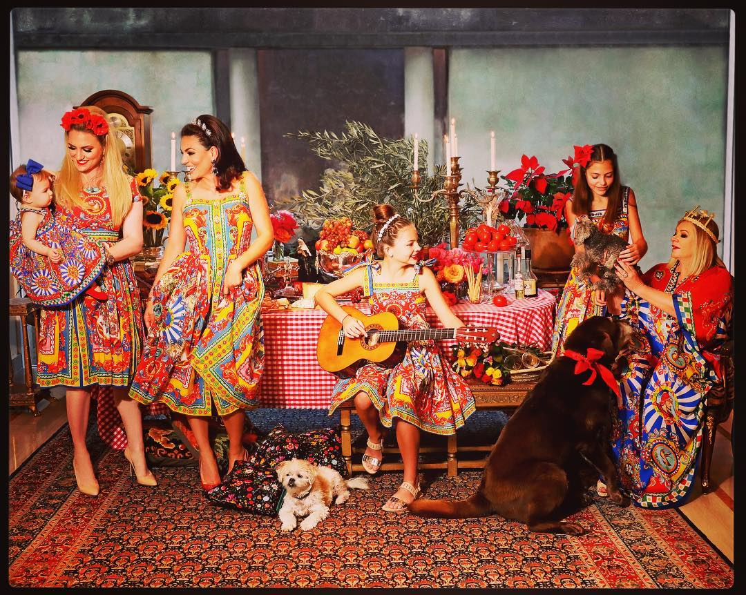 Dolce and Gabbana 2016 Carretto Siciliano Inspired Photo Shoot - Mother's Day Photos