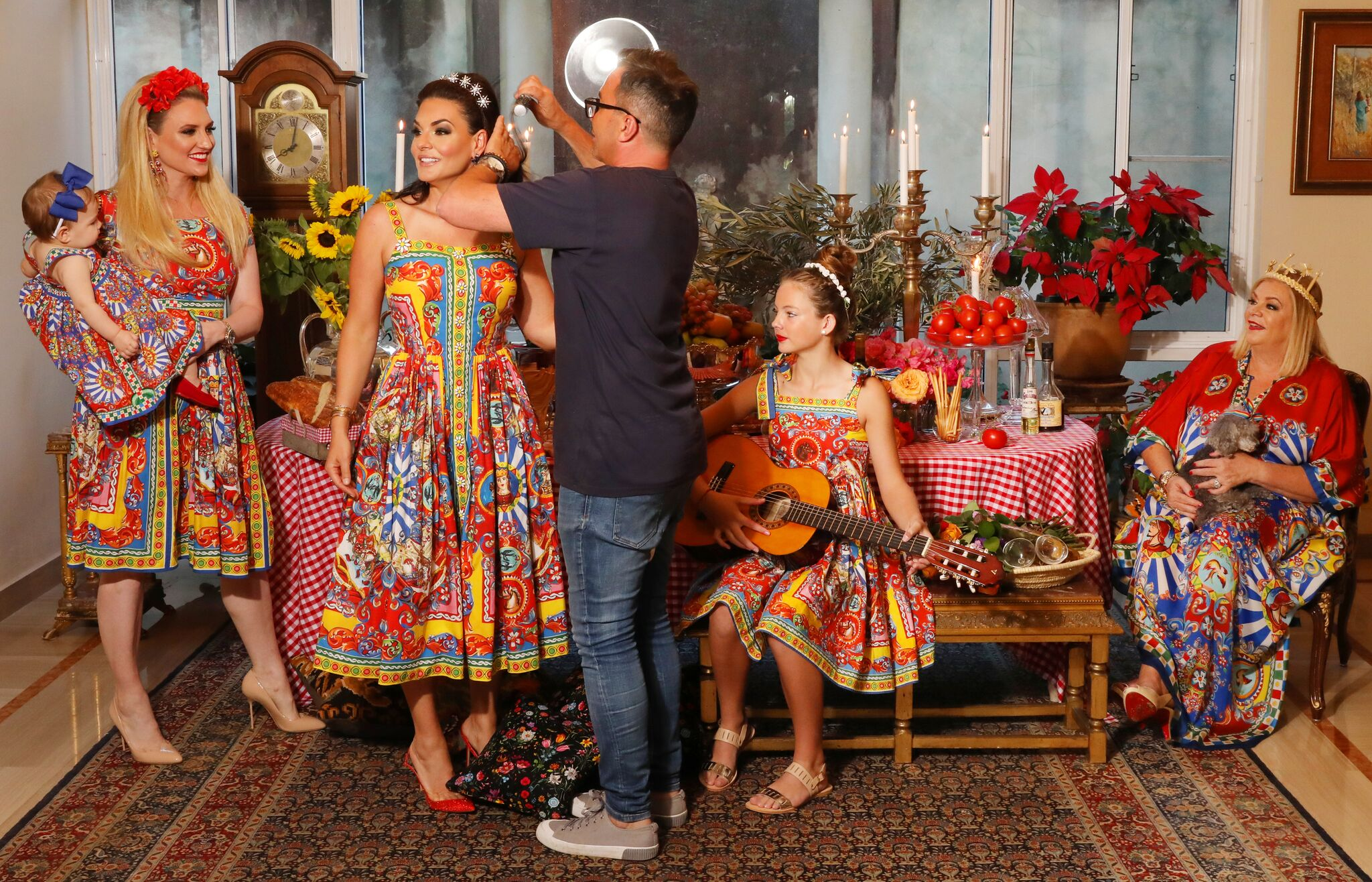 Behind the Scenes of Dolce and Gabbanna Carretto Siciliano Inspired Photoshoot