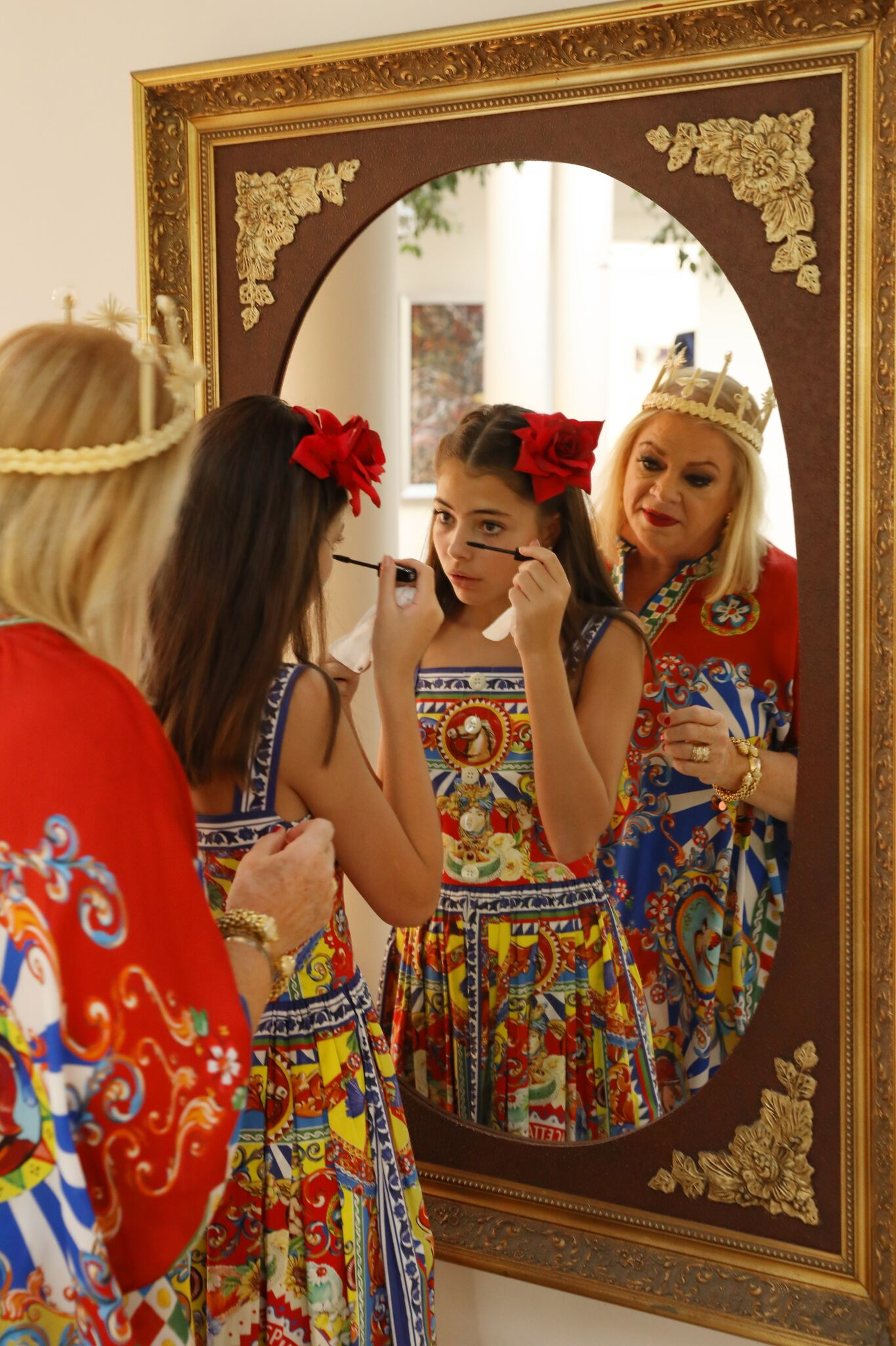 Behind the Scenes of Dolce and Gabbanna Carretto Siciliano Inspired Photoshoot - Nawal and Maud