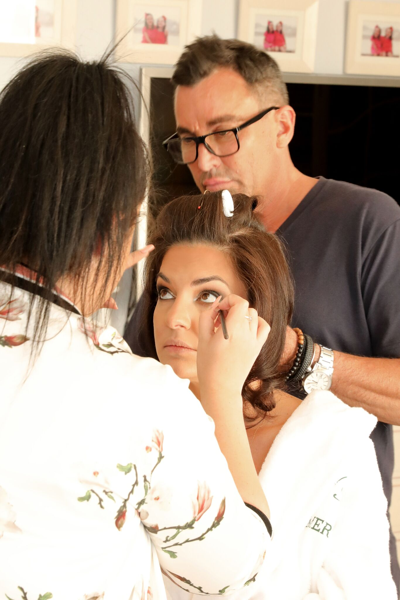 Behind the Scenes of Dolce and Gabbanna Carretto Siciliano Inspired Photoshoot - Hair by Joh Bailey Makeup By Brianna