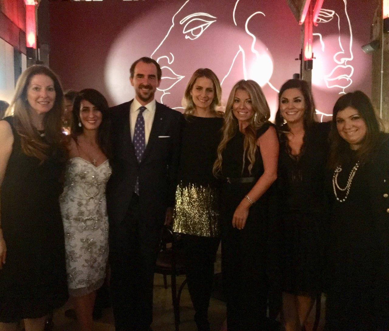 Dinner at Bar Machiavelli with Princess Tatiana of Greece and Denmark