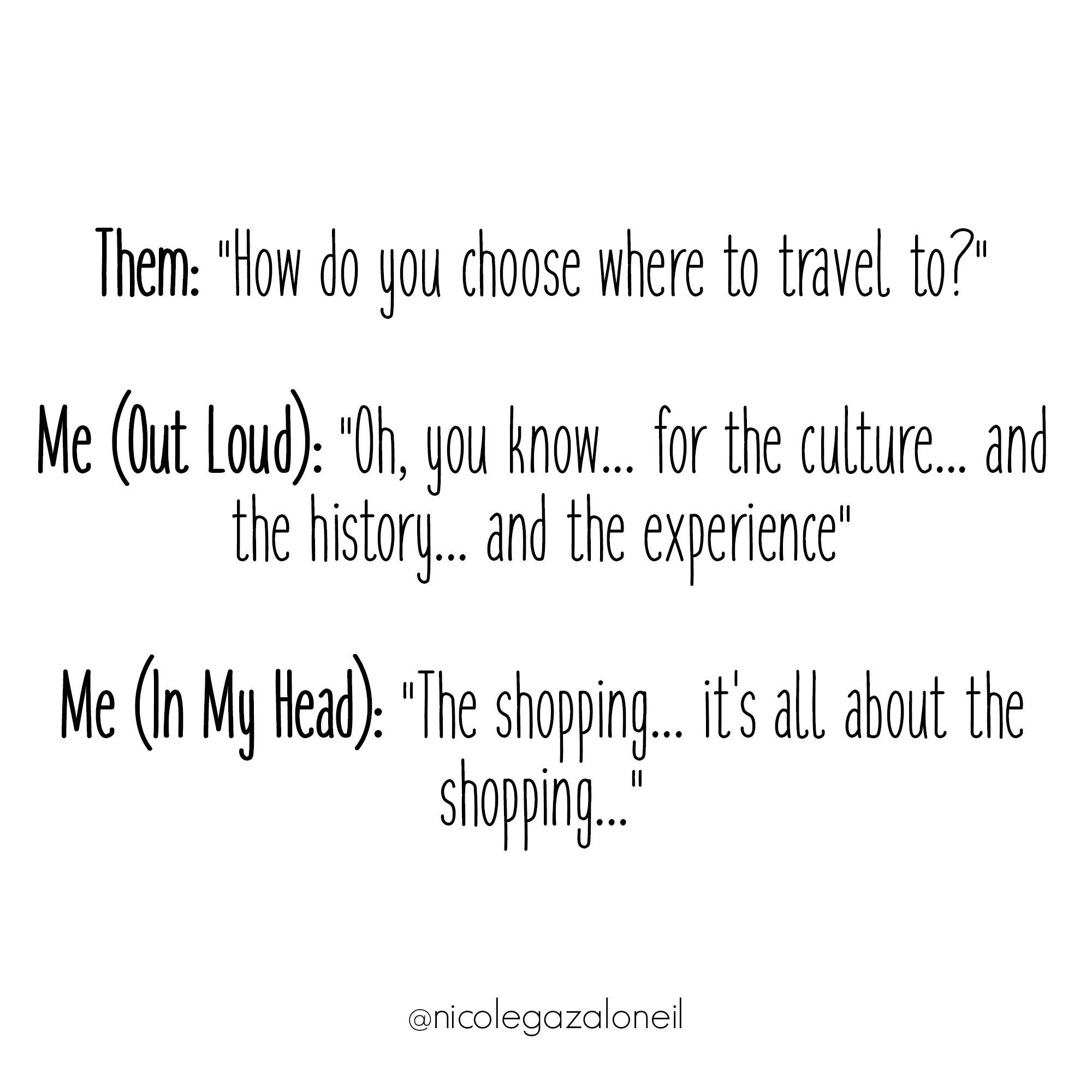 It's All About The Shopping