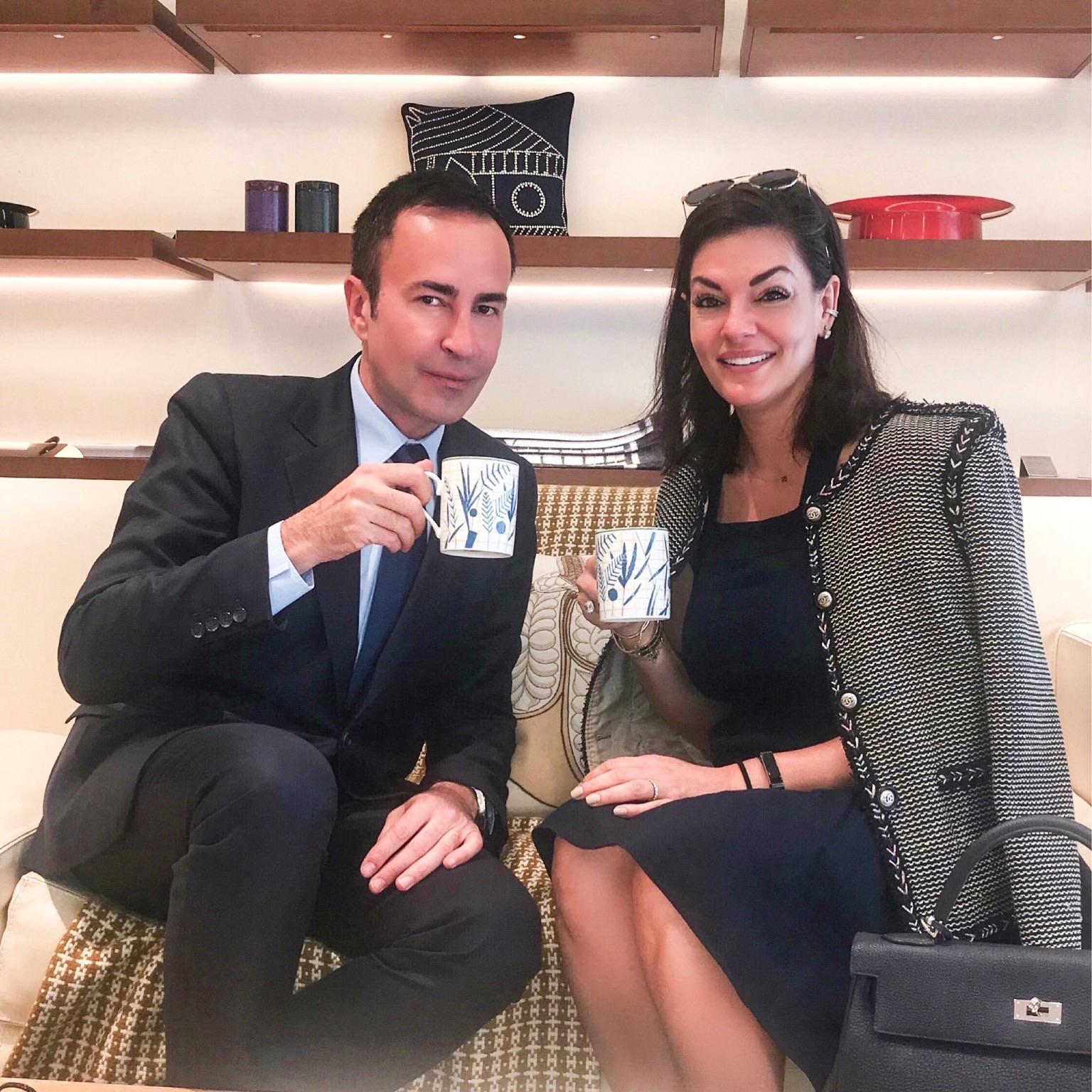 Tea with Michael Coste in Paris