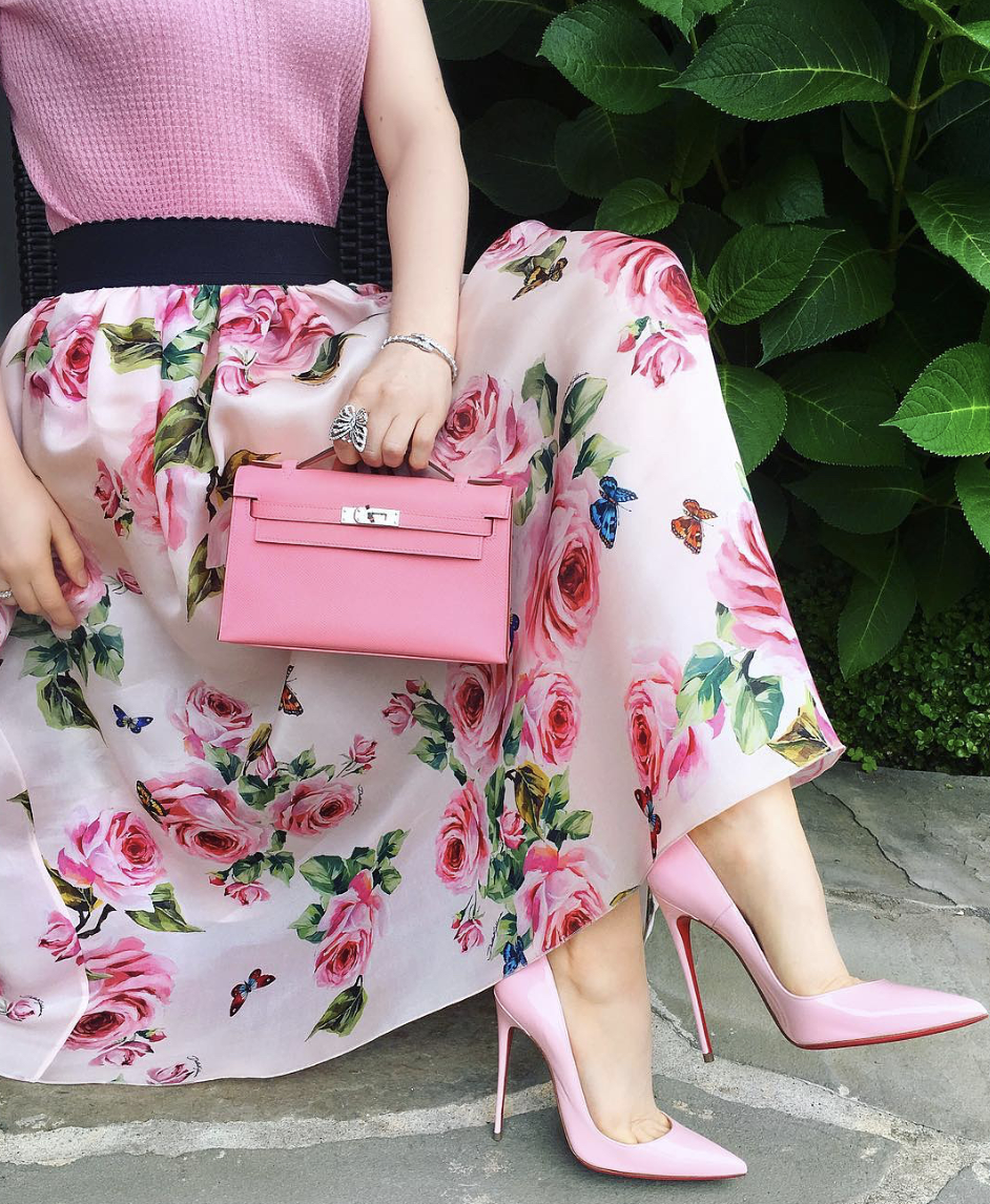 Dolce and Gabbana Floral Skirt Outfit on a Budget