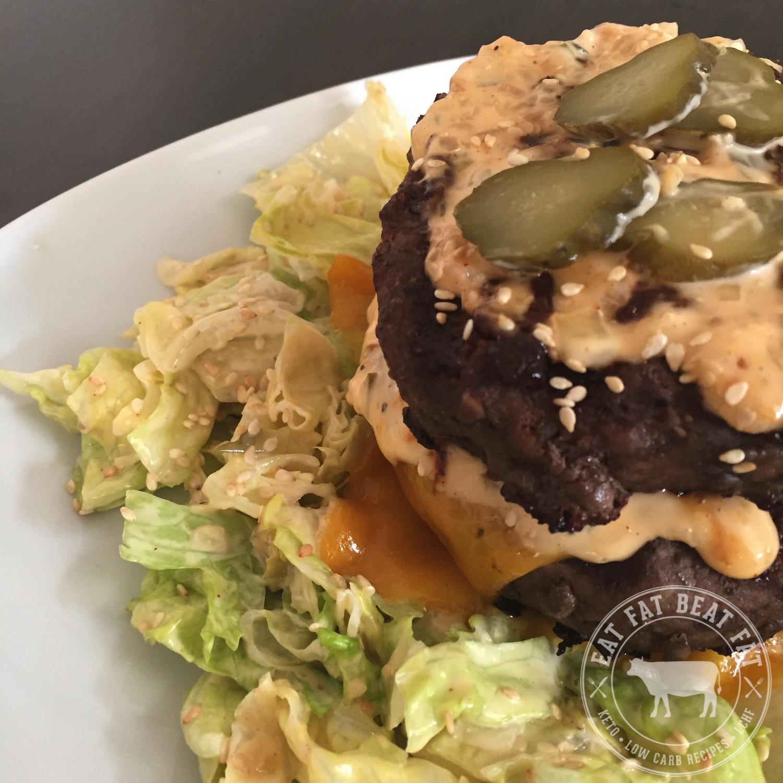 Big Mac Salad - Keto Diet Recipes