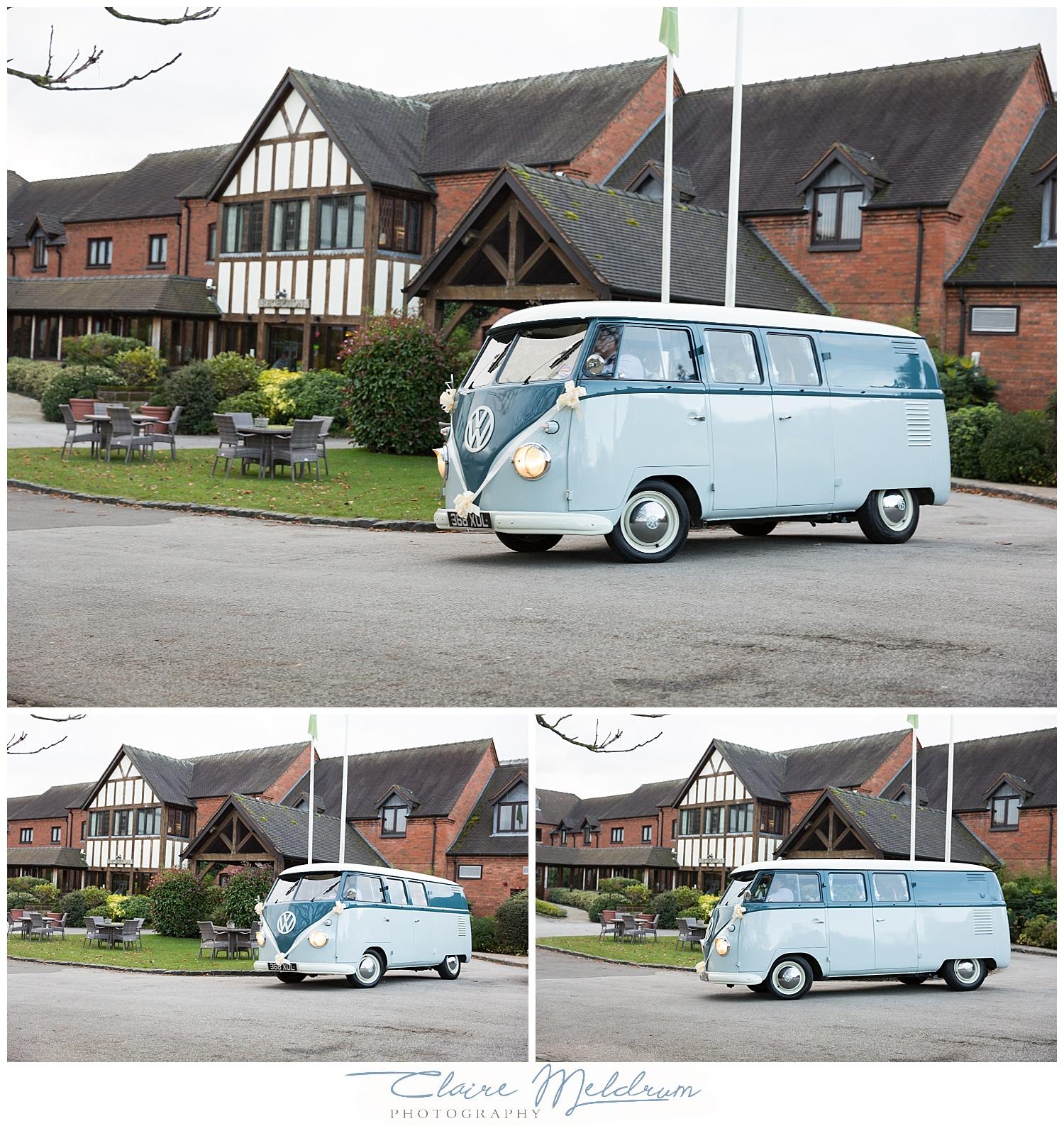 Blue pumpkin VW Wedding Hire