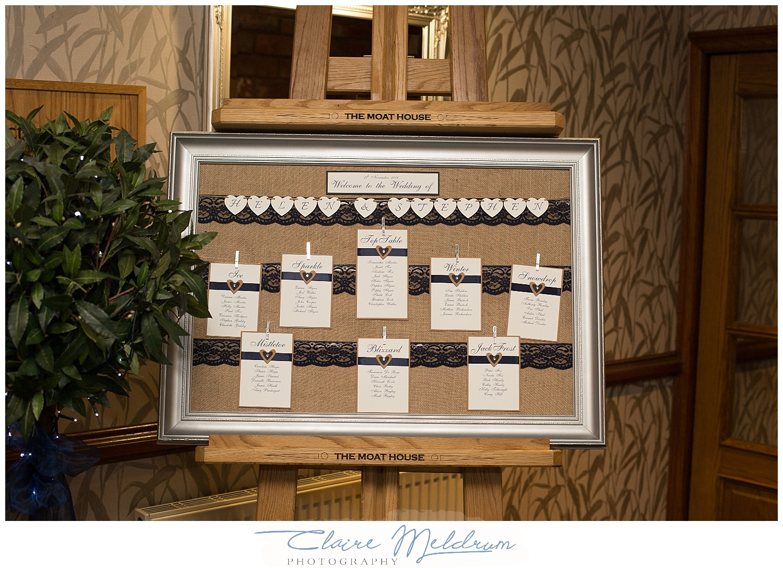 Seating plan - Joanne Carter,Handmade by Joanne.