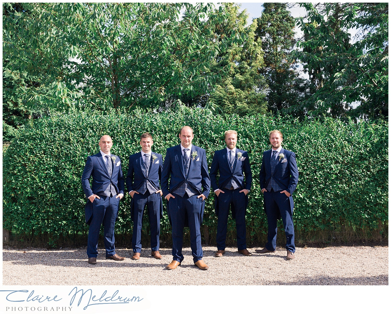 Claire Meldrum Photography. Groomsmen Uttoxeter Staffordshire